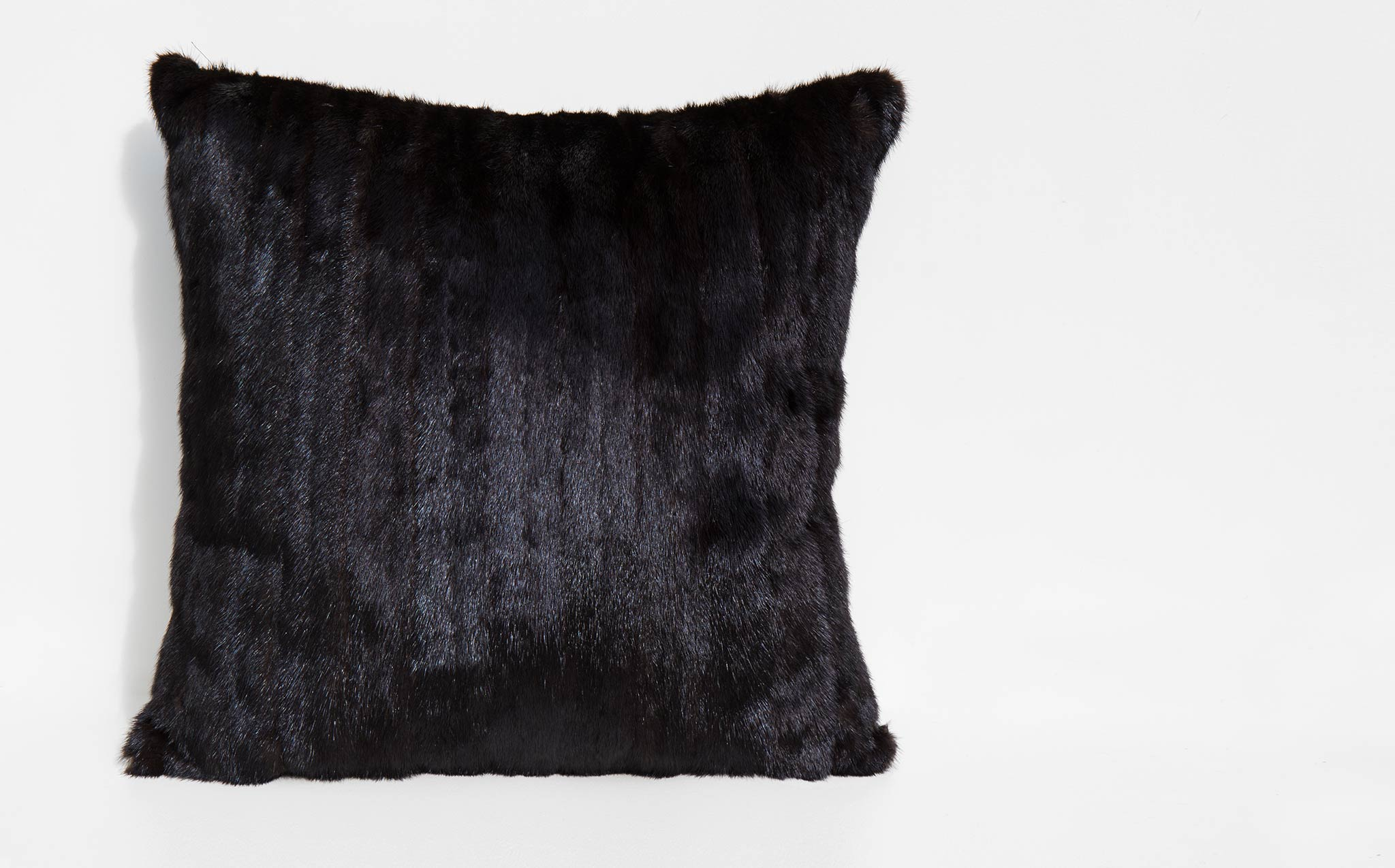 Large Recycled Mink and Velvet Pillow