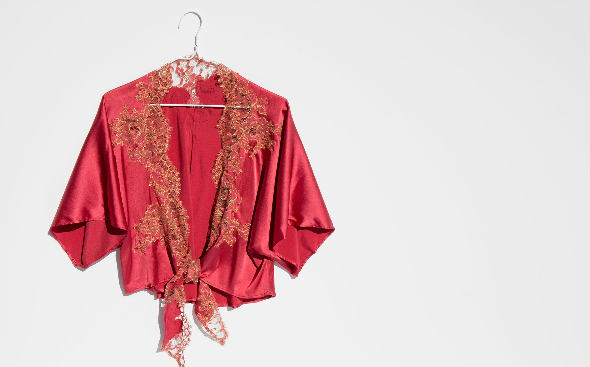 Lucile Maison De Grande Luxe Lace And Silk Bed Jacket