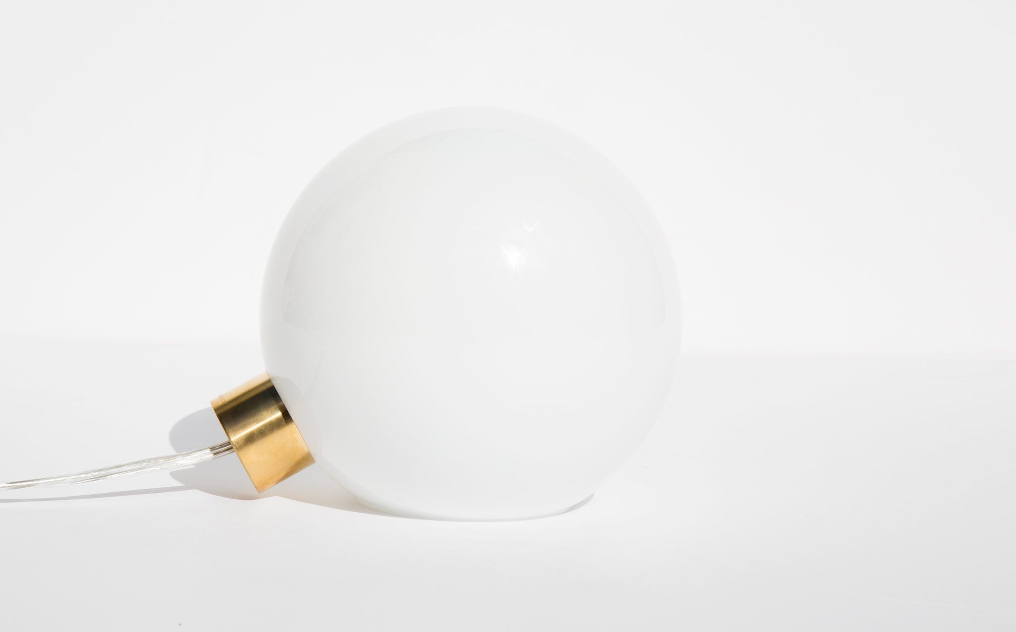 Minimalux Opal Glass and Brass Bulb