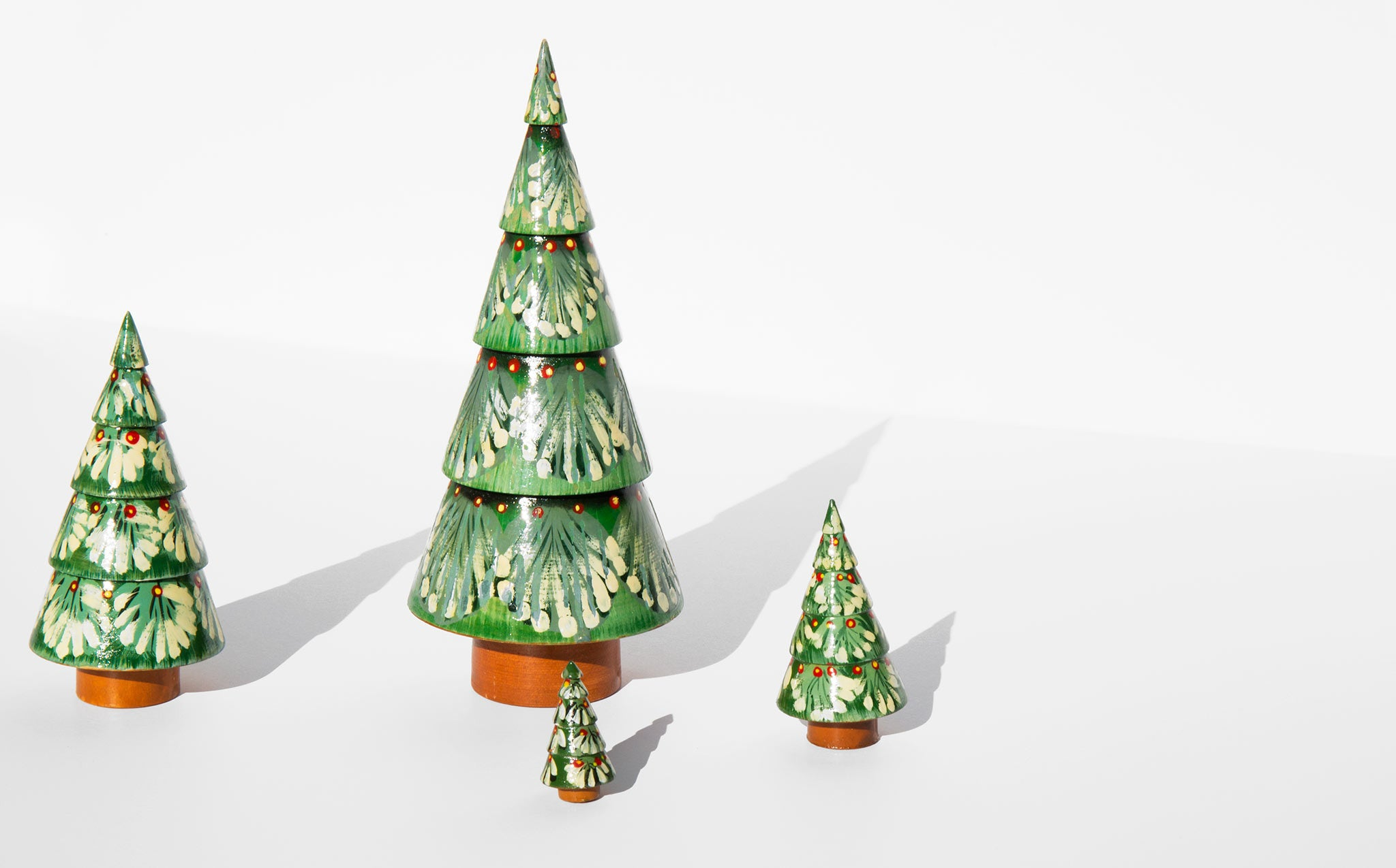 Vintage Christmas Tree Nesting Trees