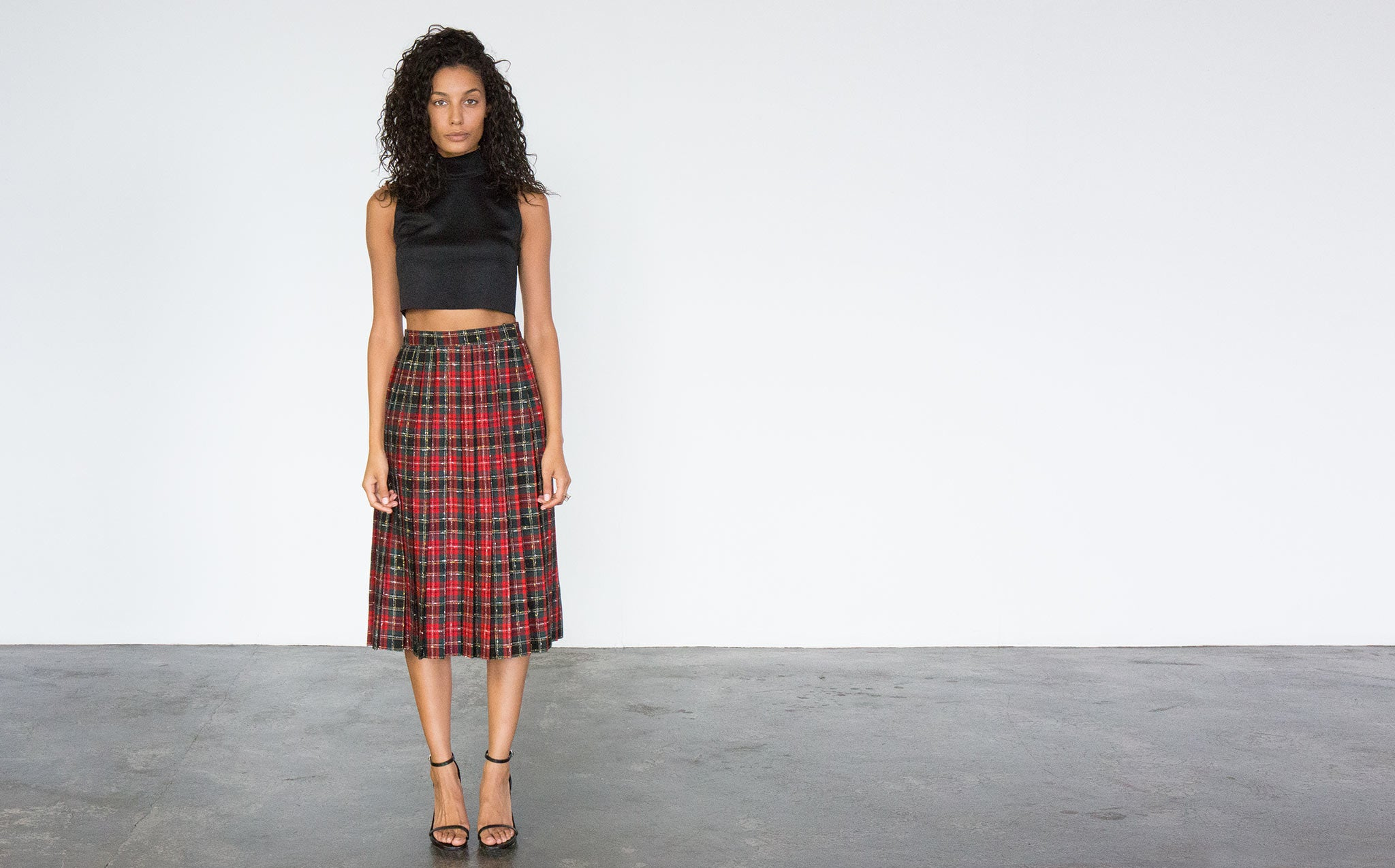 Plaid Wool Holiday Skirt