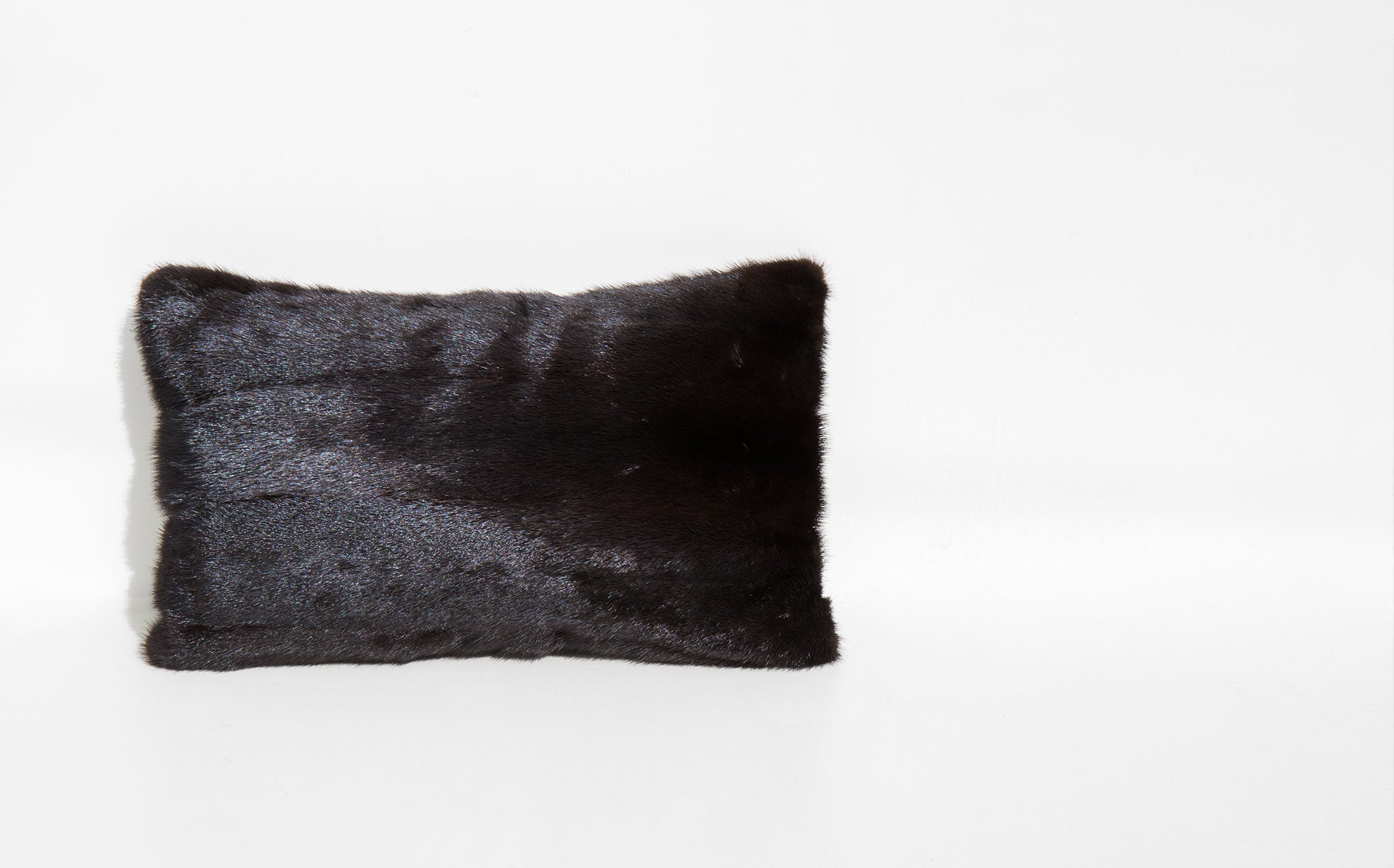 Recycled Mink and Velvet Throw Pillow