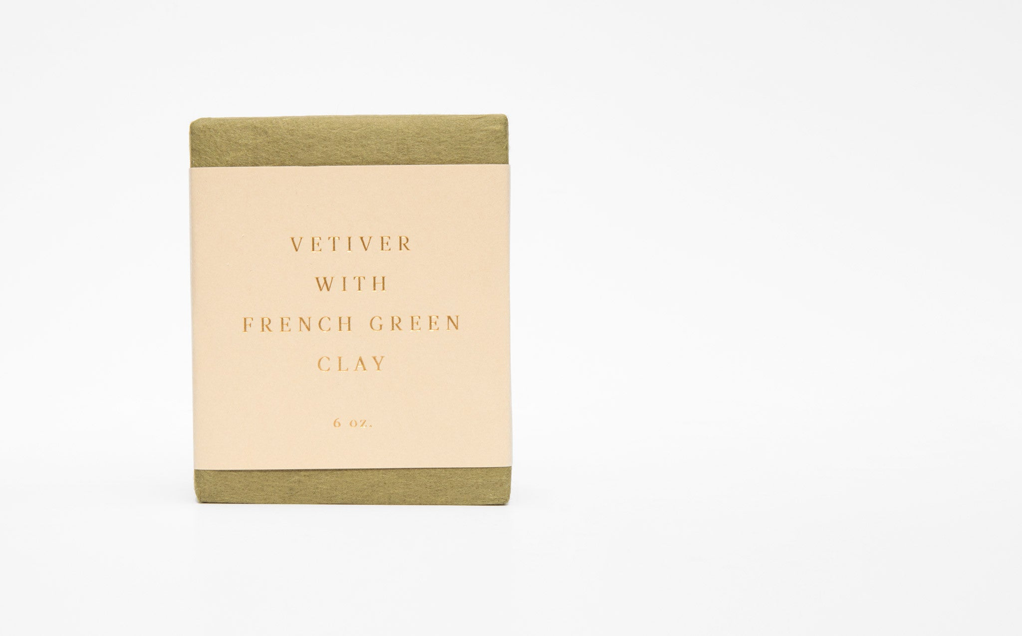 Saipua Vetiver With French Green Clay Soap