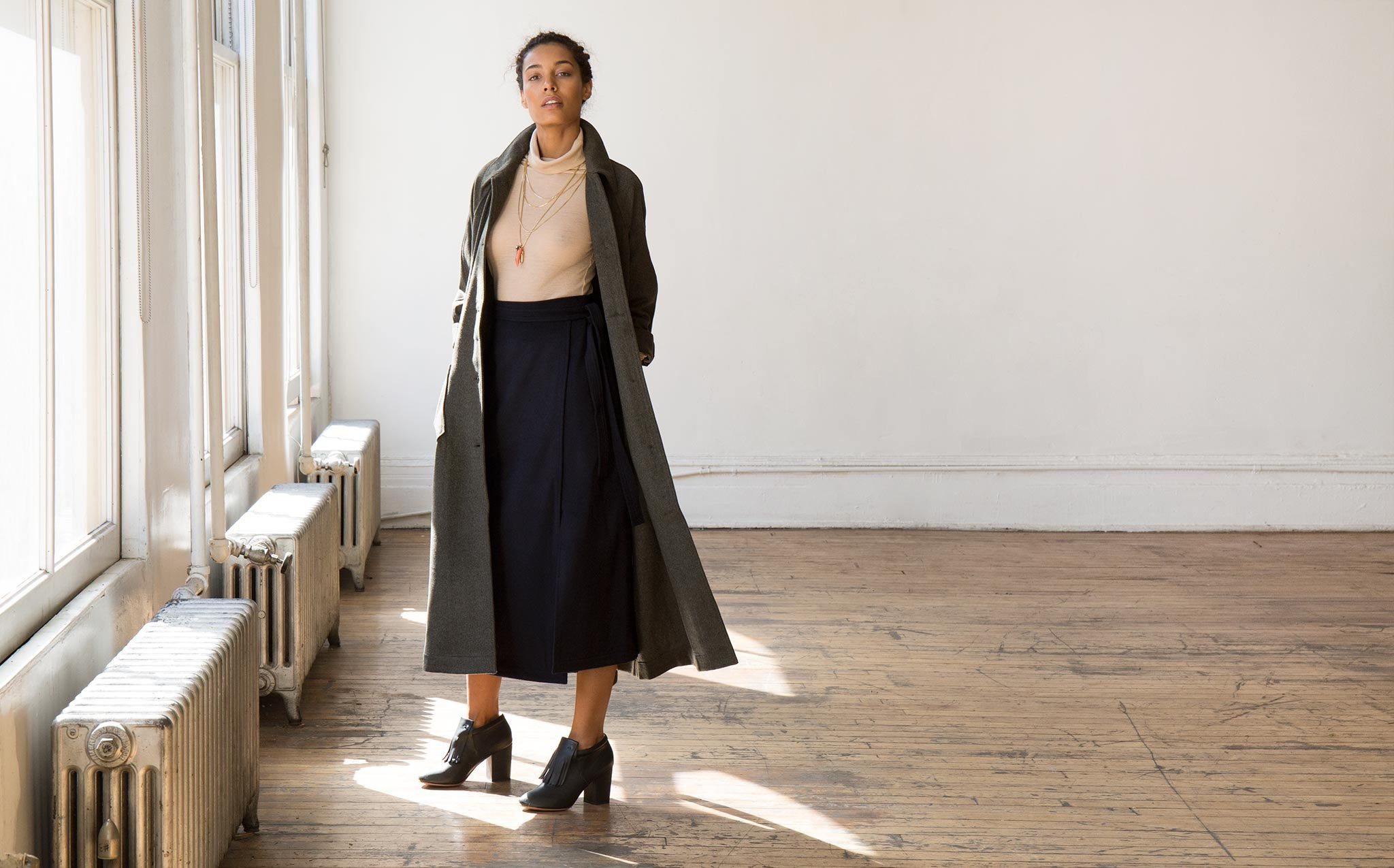 Svilu Wool Lab Coat