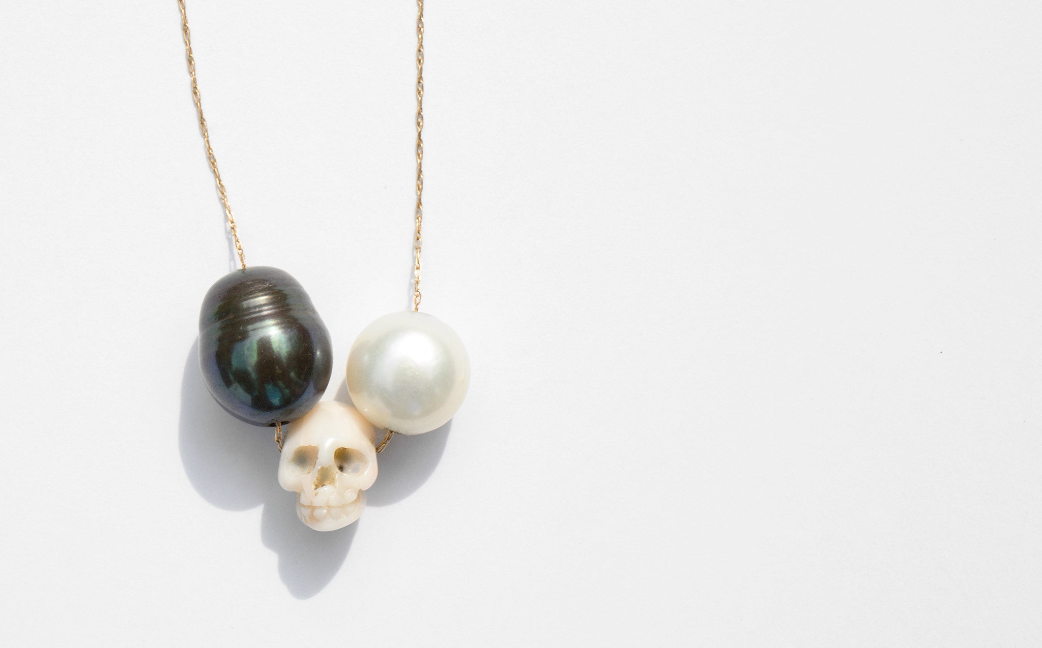 Victorian Skull Necklace