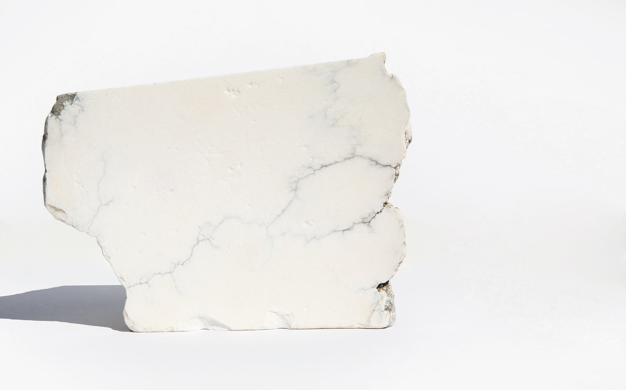 Large Howlite Slice