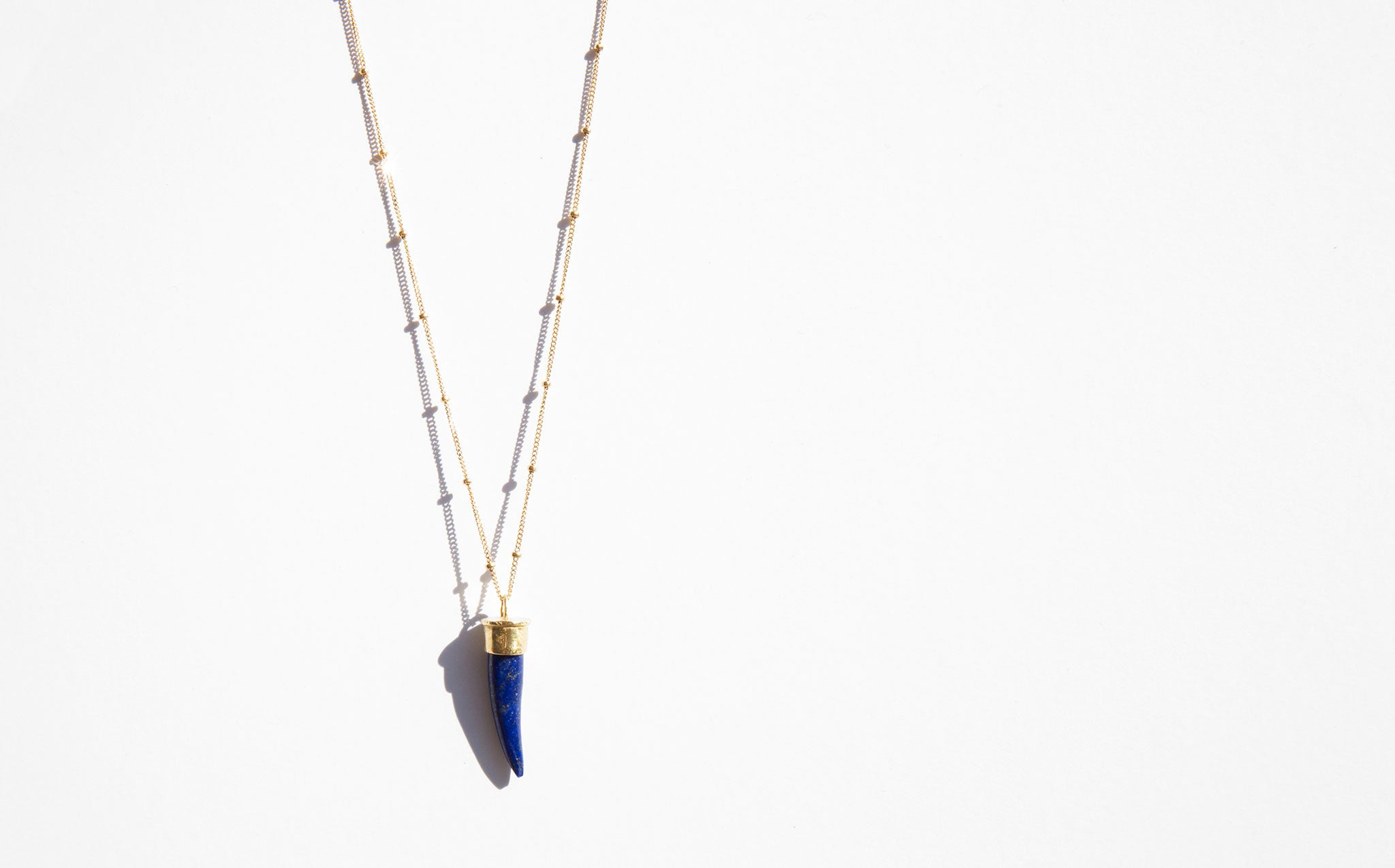 Melissa de la Fuente Lapis Animal Necklace