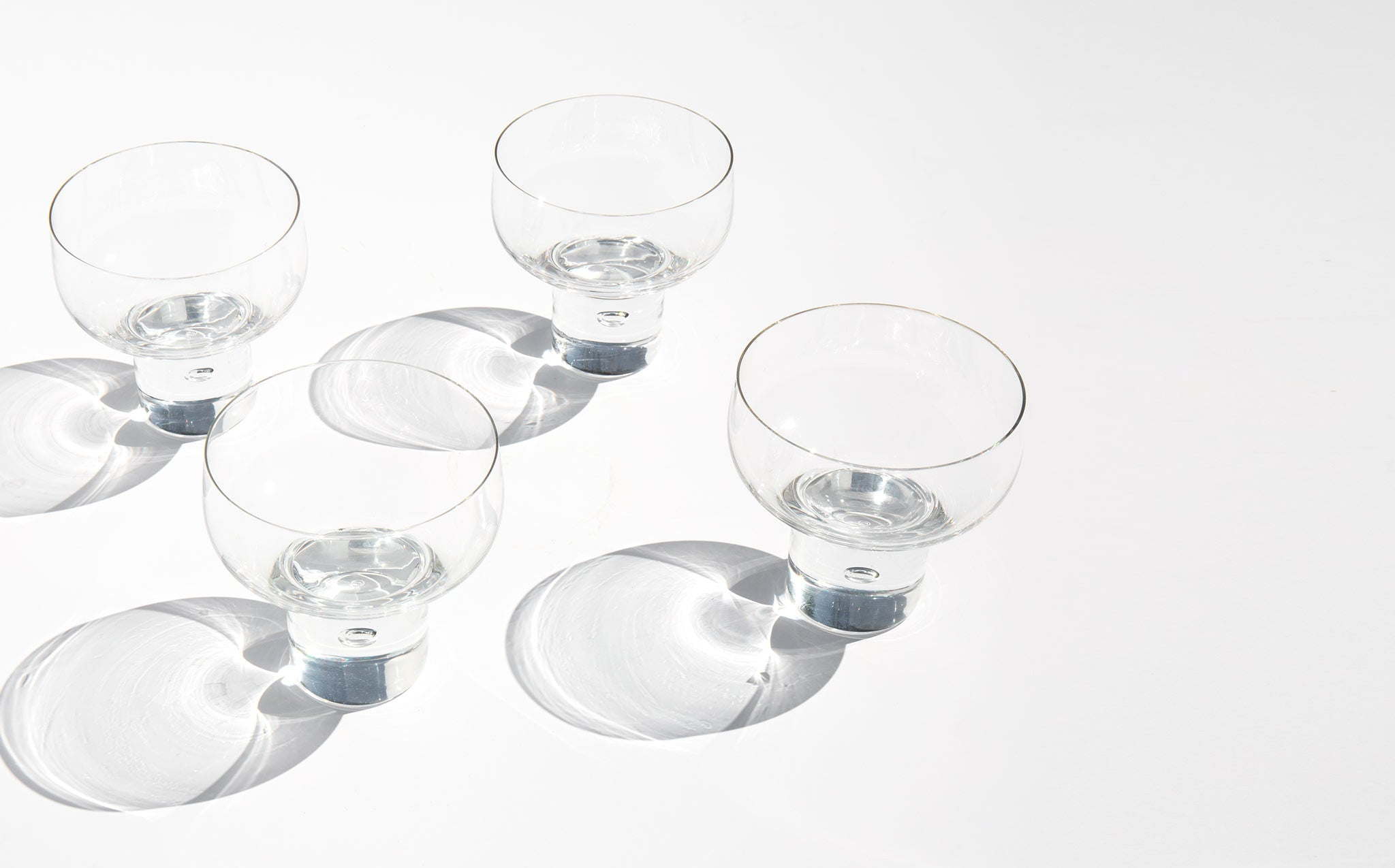 Midcentury Bubble Cocktail Glasses
