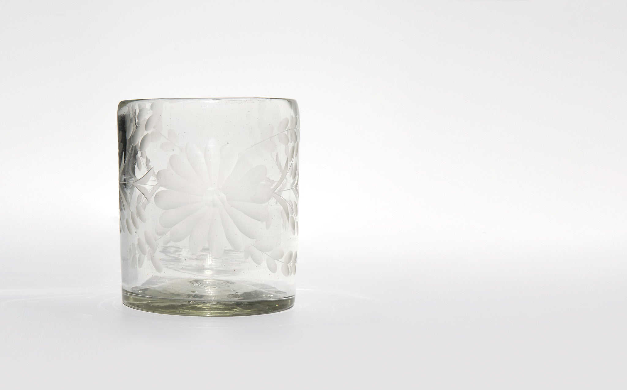 Etched Mexican Glass kindred black