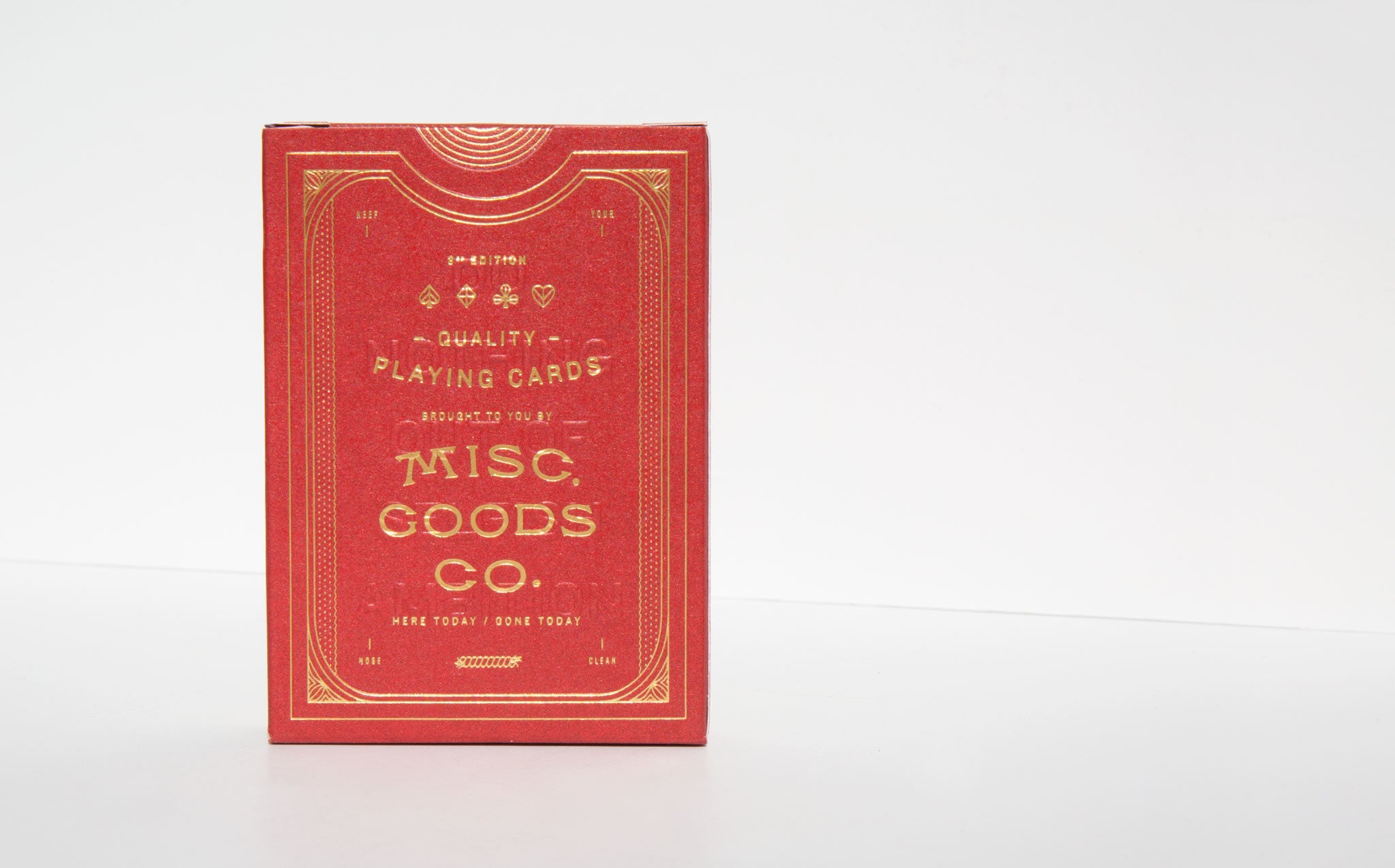 Misc Goods Co Playing Cards - Red