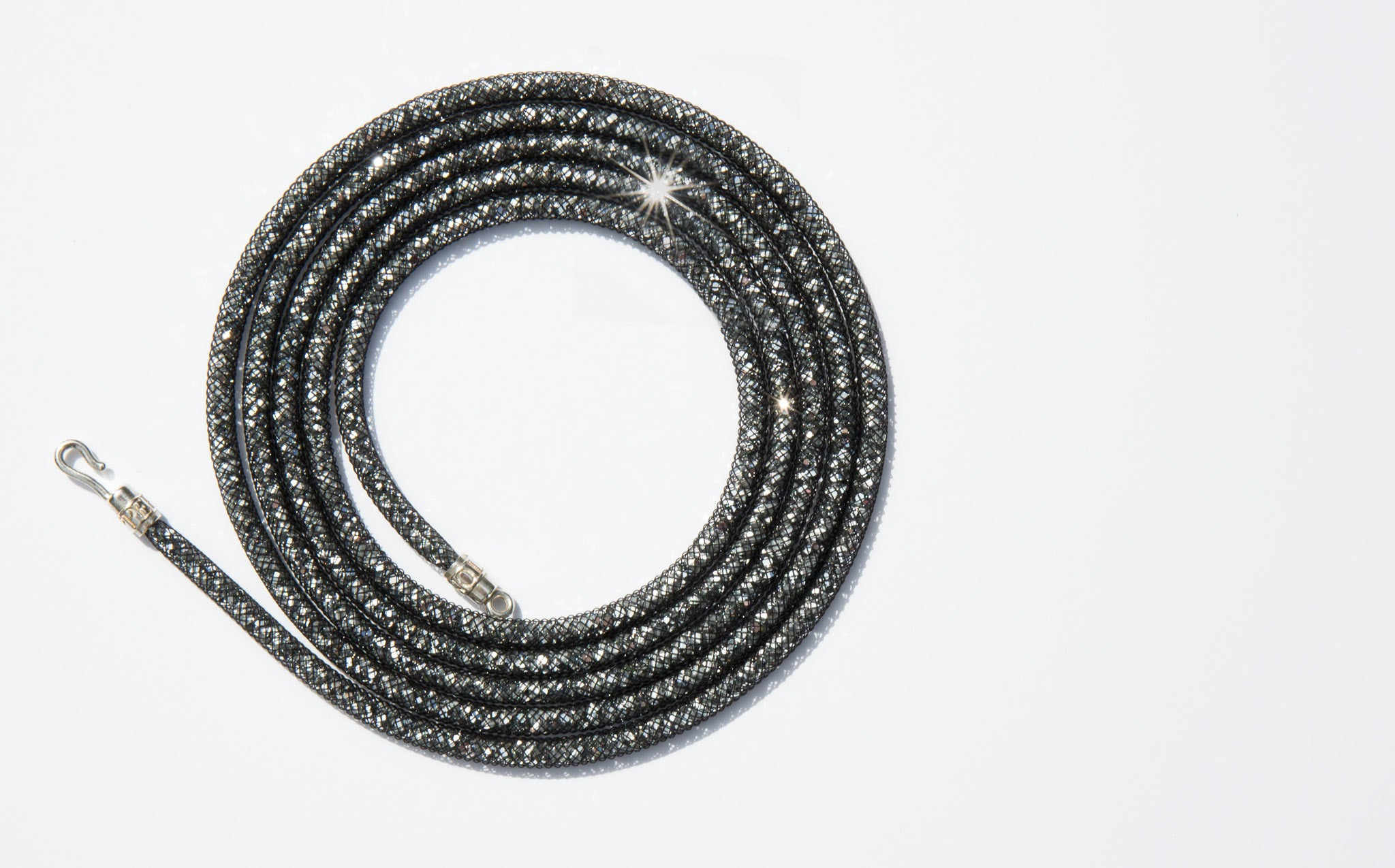 Peppercotton Gunmetal Thread Strand Necklace