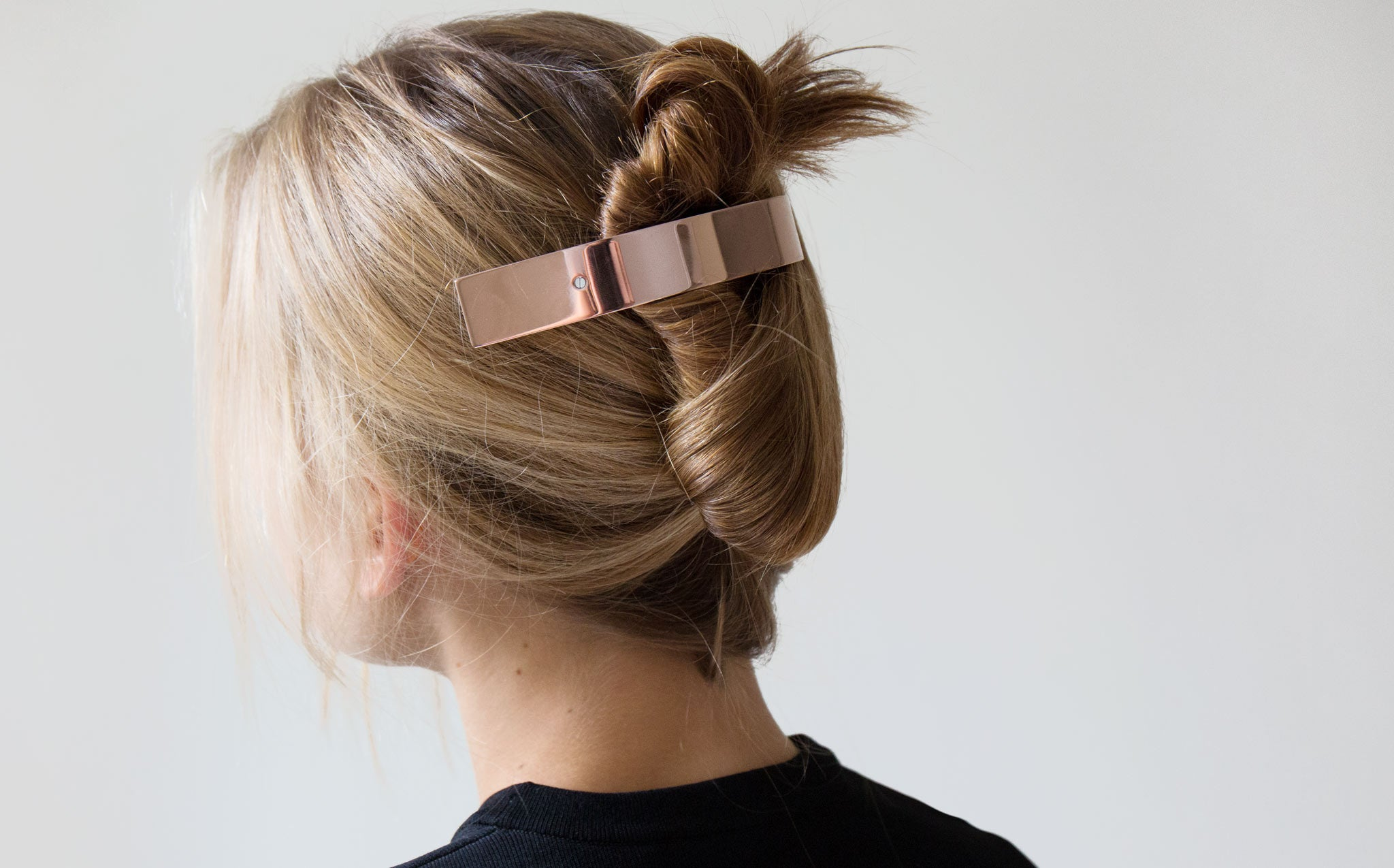 Sylvain Le Hen Rose Gold Barrette kindred black