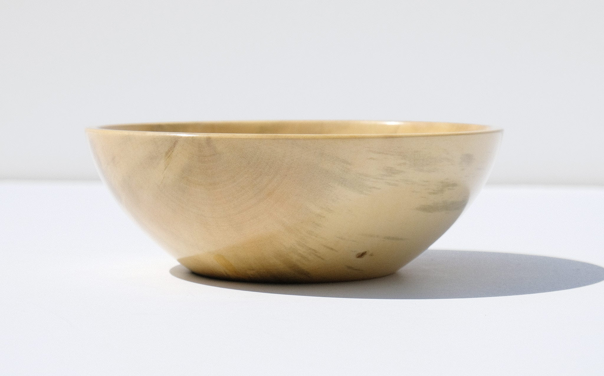 Bruce Perlmutter Hand Lathed Small Round Holly Bowl