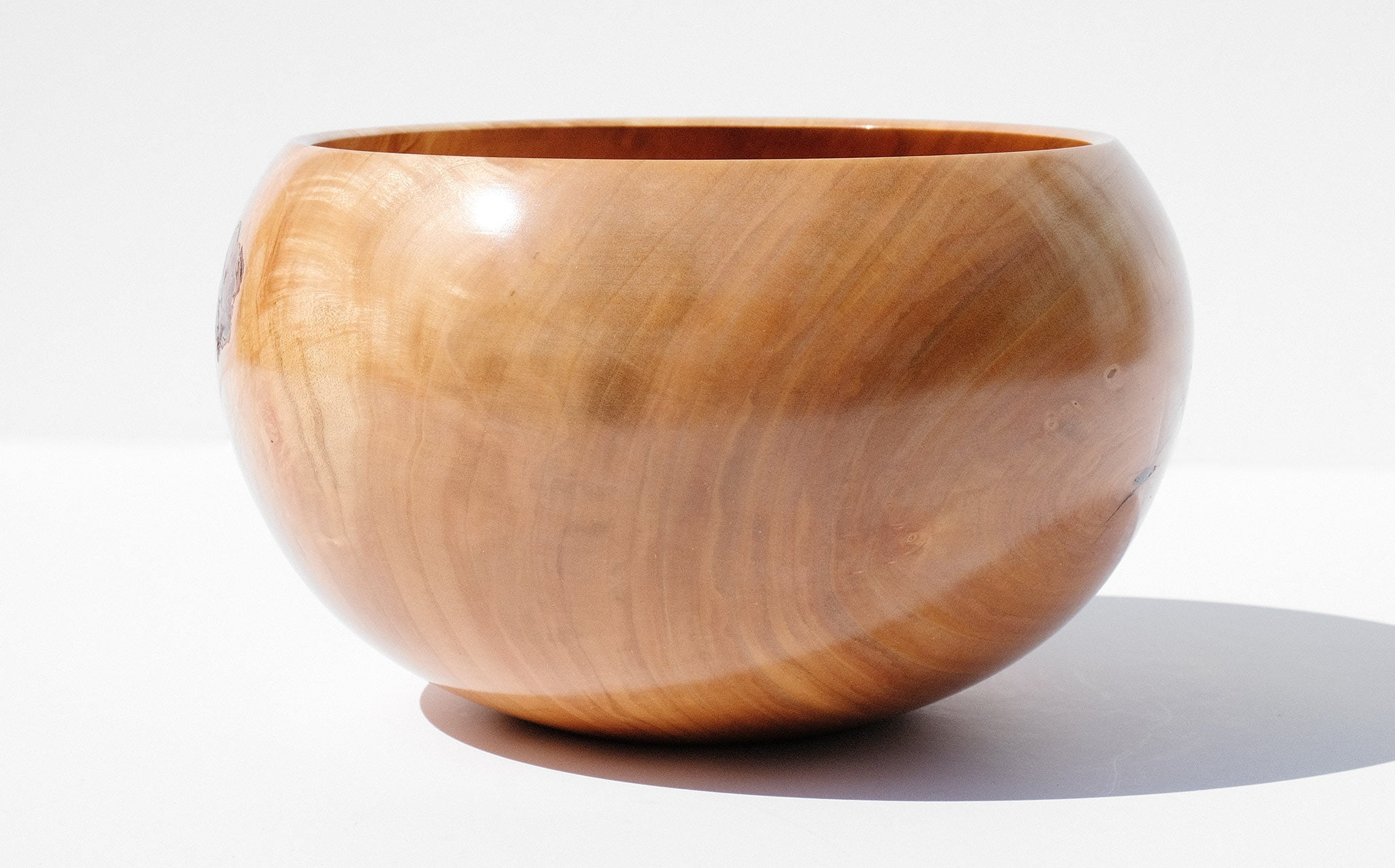 Bruce Perlmutter Hand Lathed Silver Maple Bowl