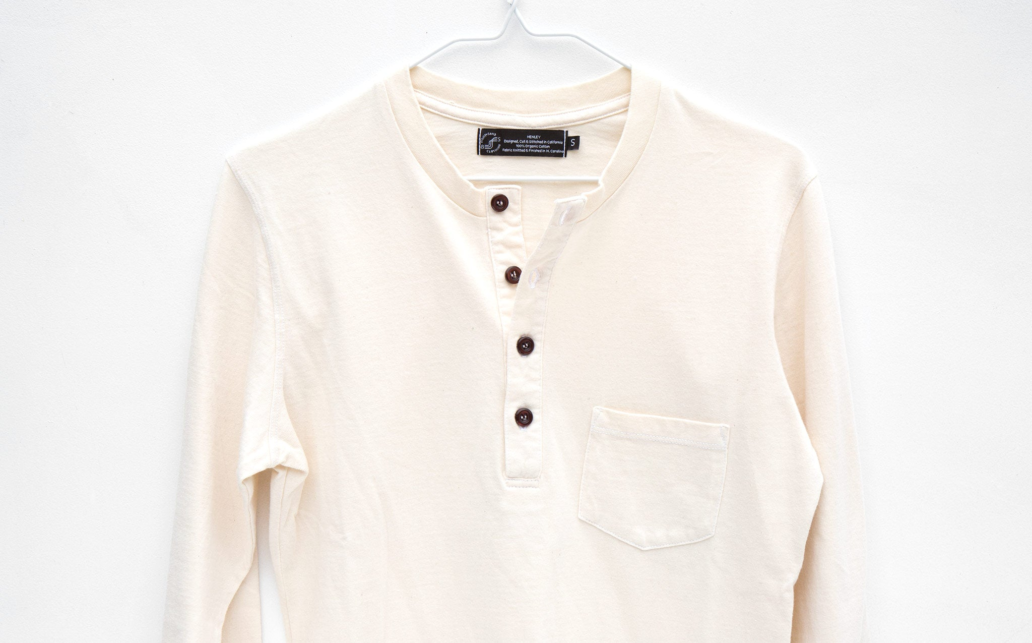 Eight + Sand Natural Henley