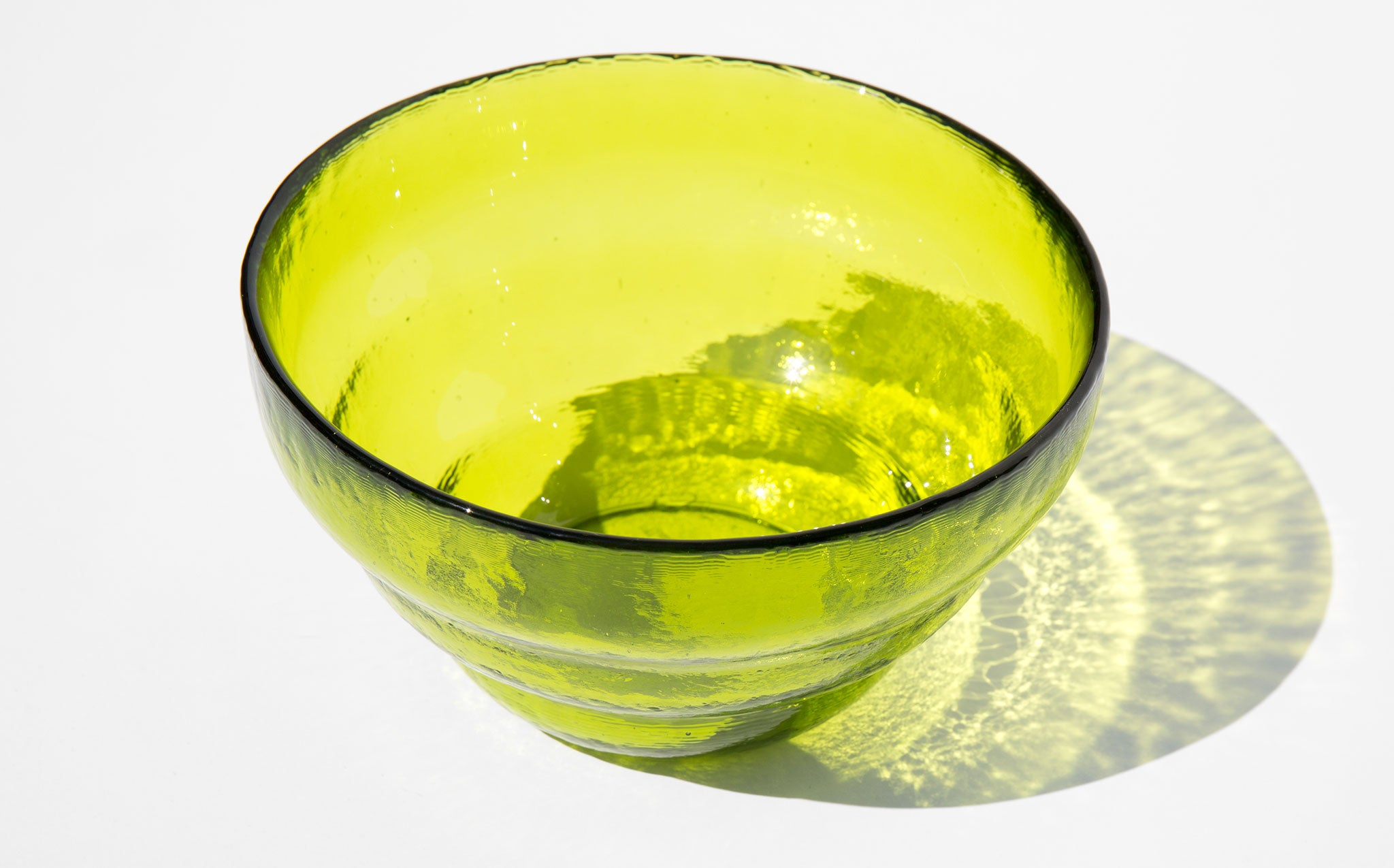 Blenko Avocado Glass Bowl