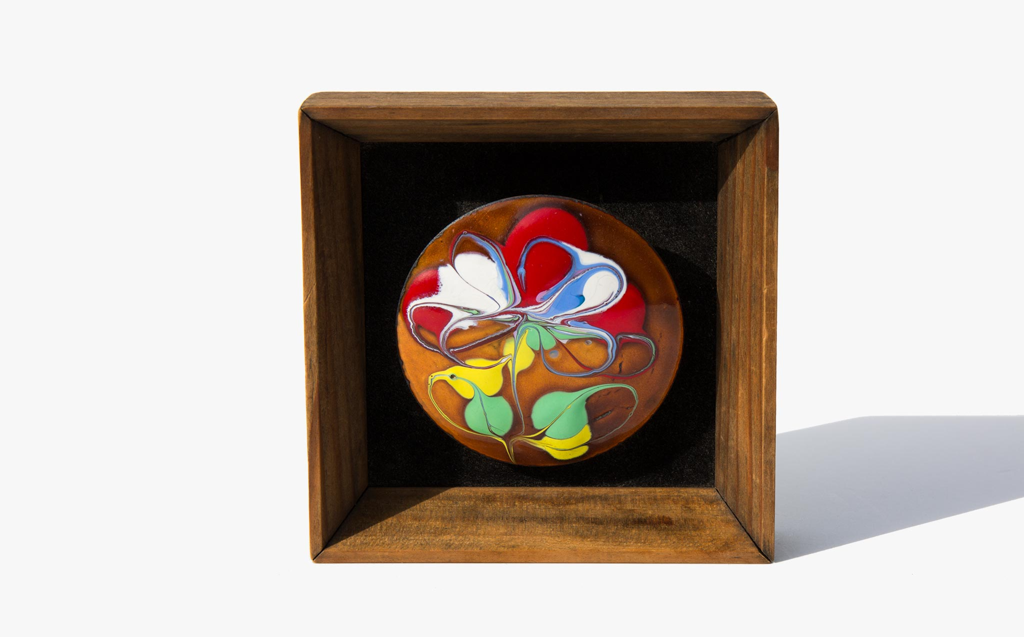 Enamel Spring Sunset Shadow Box
