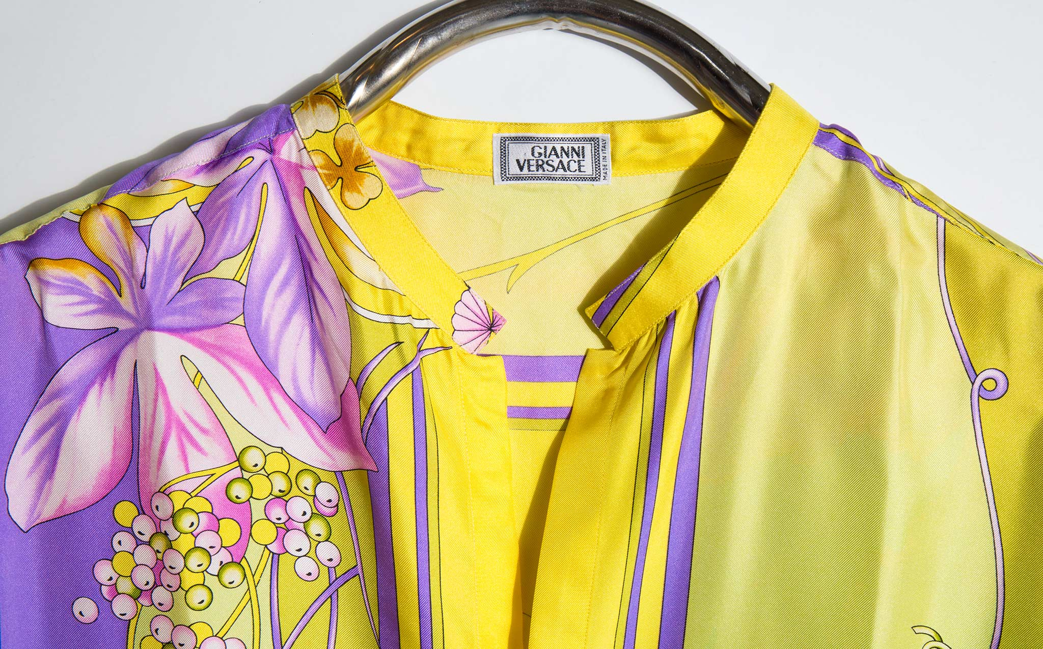 Gianni Versace Iconic 1990's Silk Floral Print Shirt