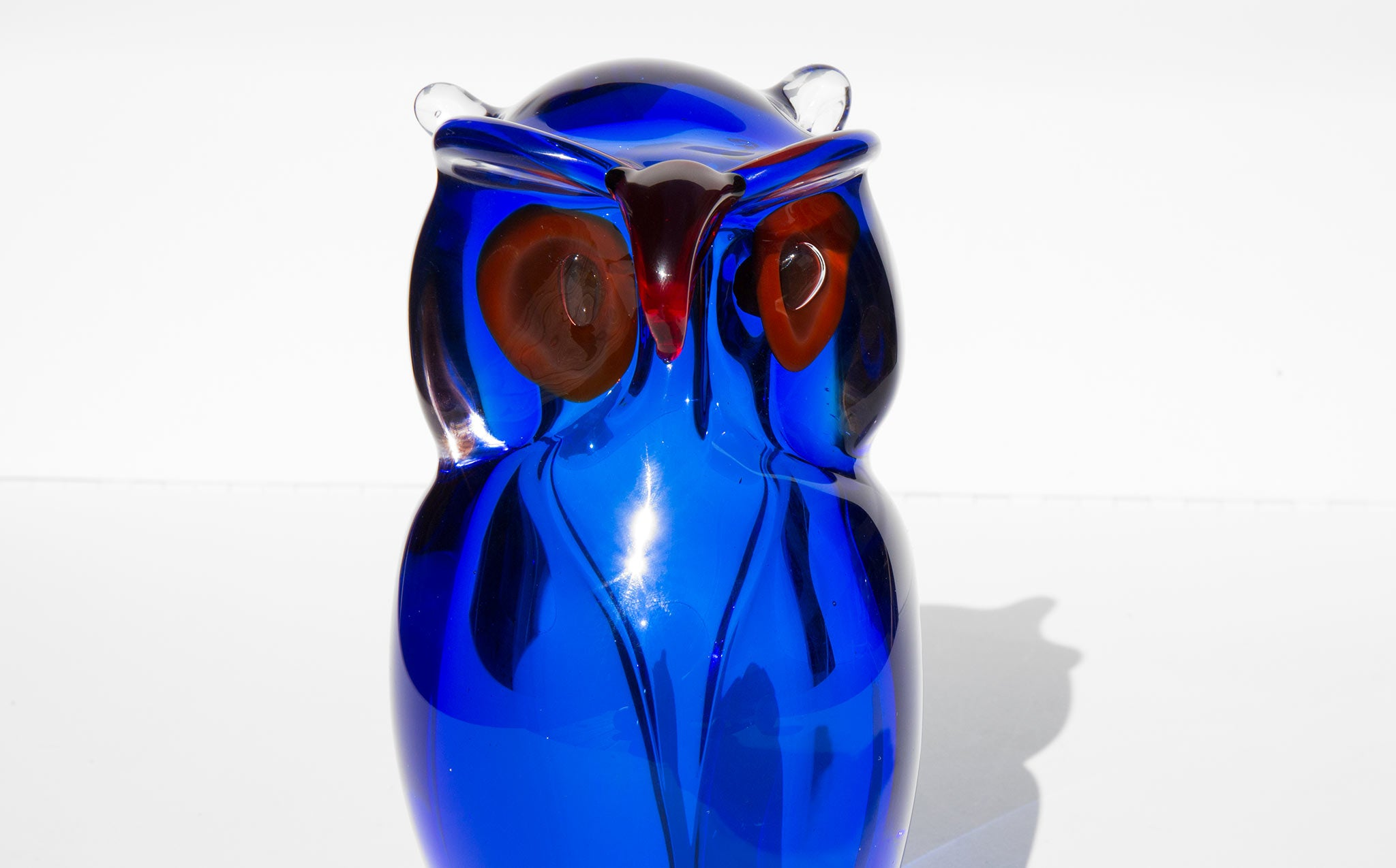 Hand Blown Glass Owl