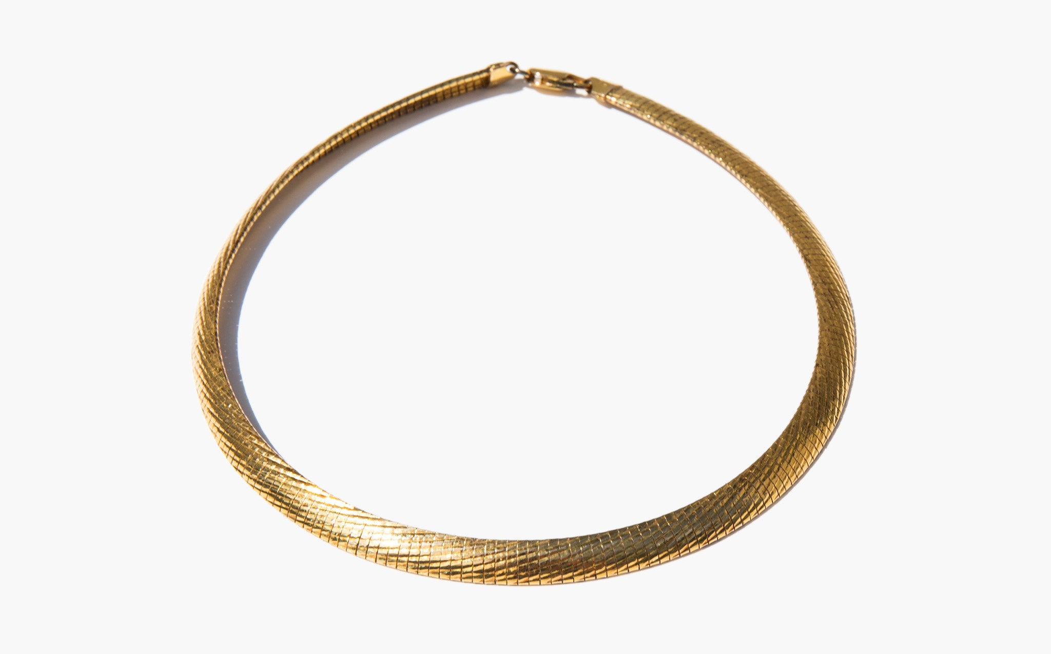 Sterling Mesh Collar Necklace
