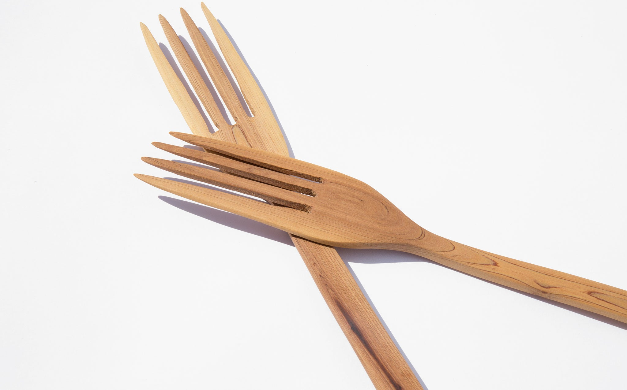 Wooden Serving Forks