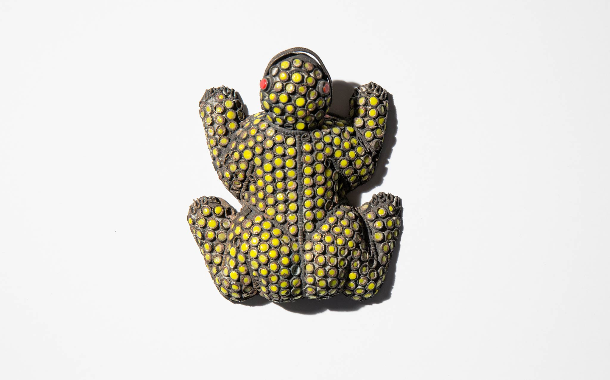 Beaded Brass Frog
