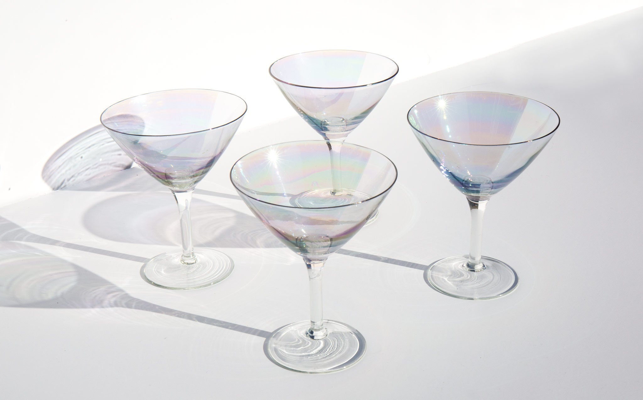 Iridescent Martini Glasses