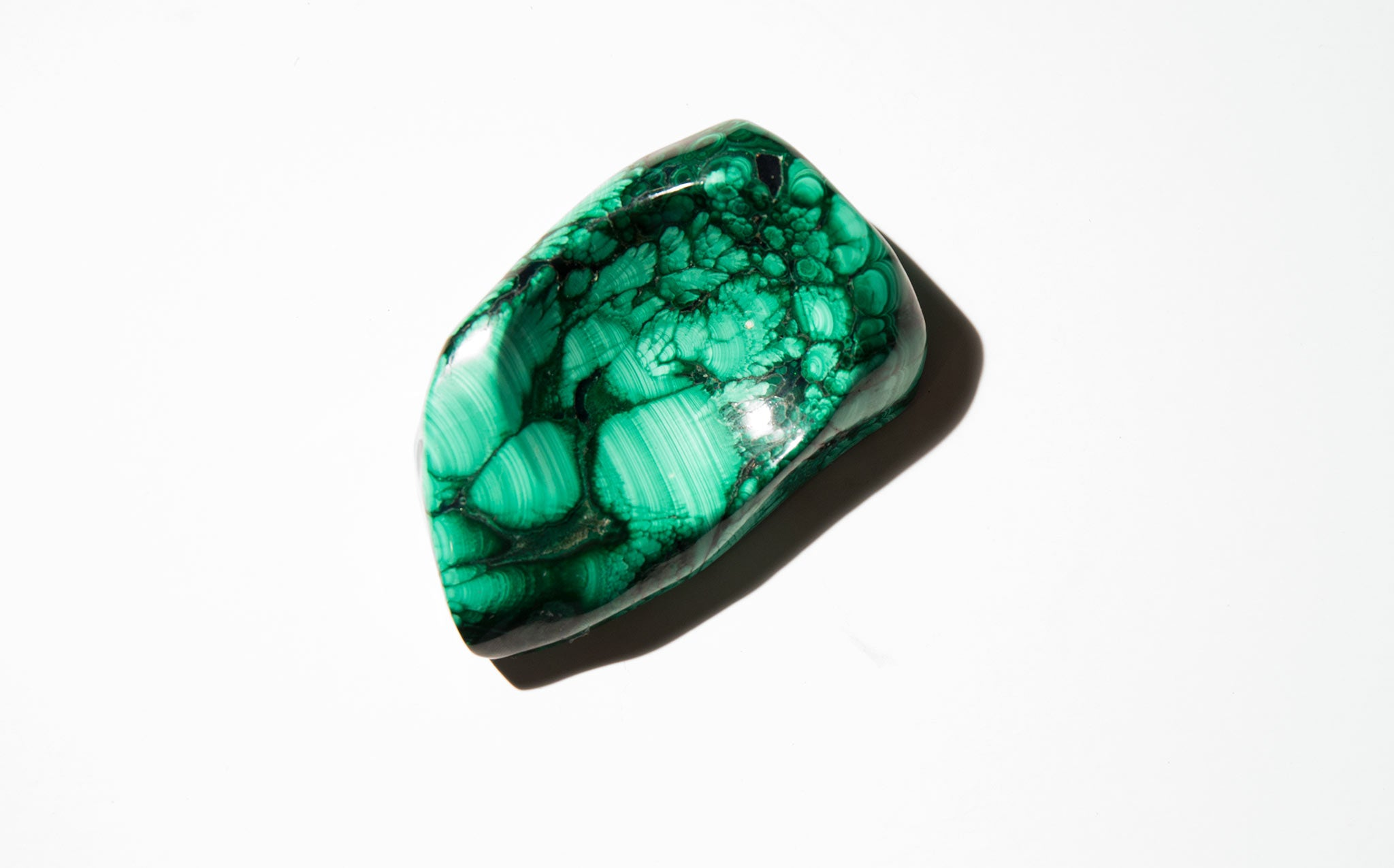 Polished Malachite Jewelry Dish