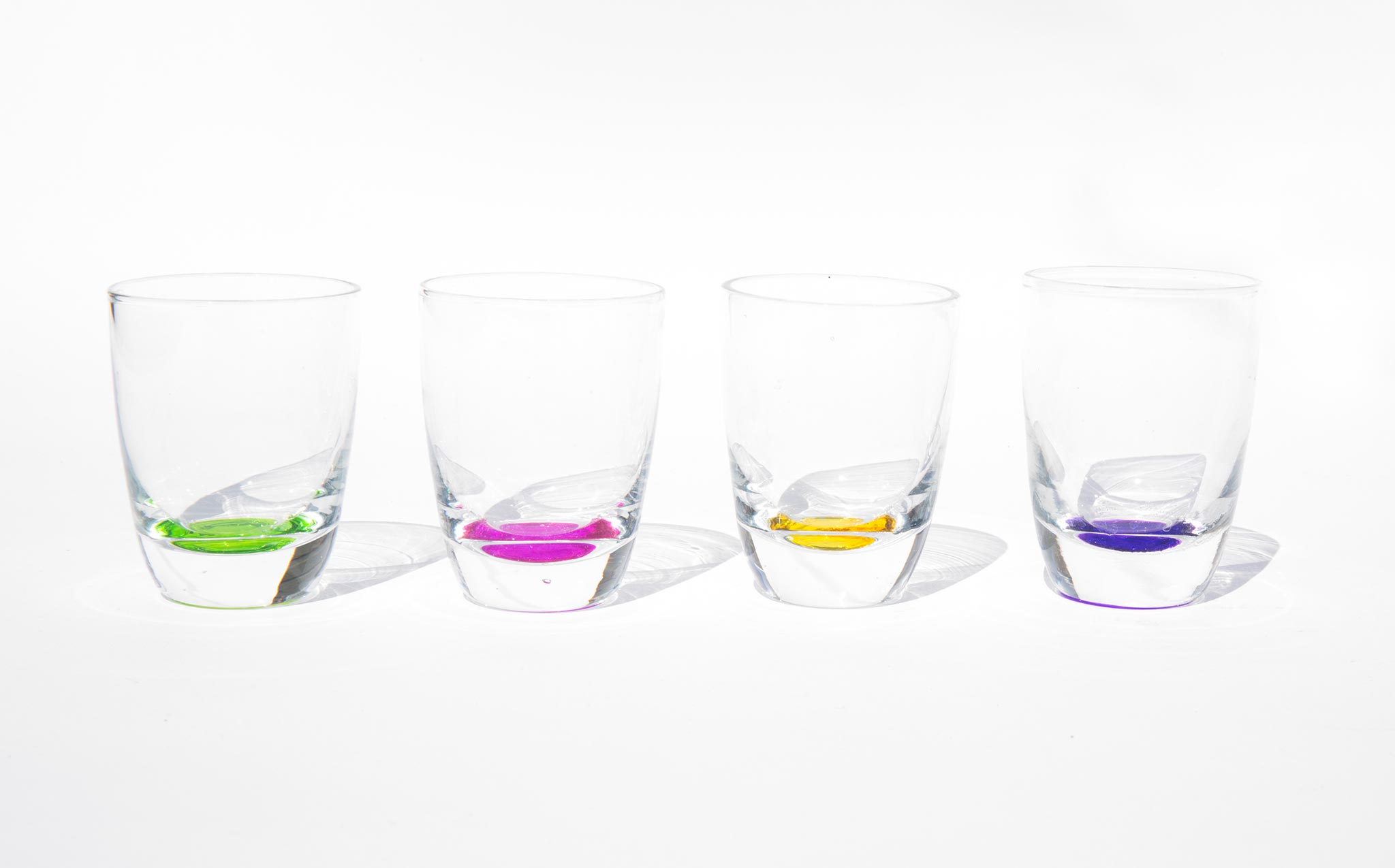 Candy Drizzled Shot Glasses