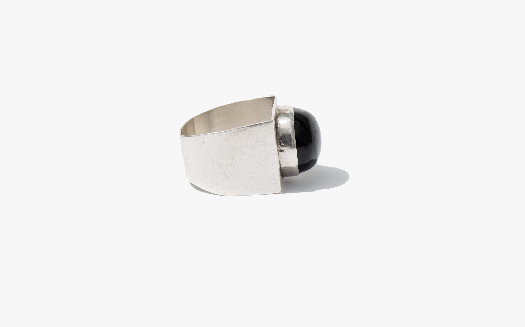 Onyx and Sterling Mod Ring