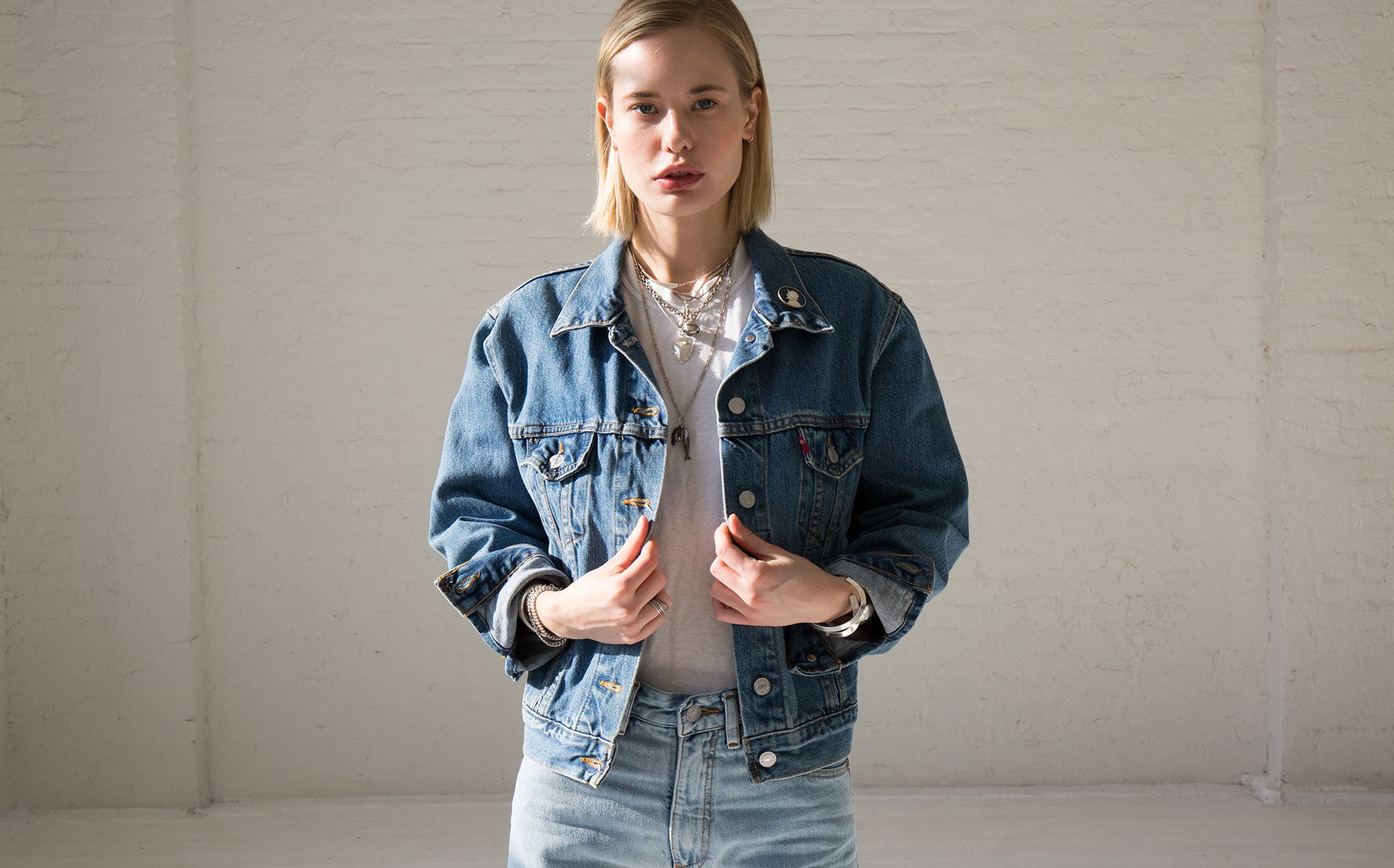 Vintage Levi's Denim Jacket With Pin