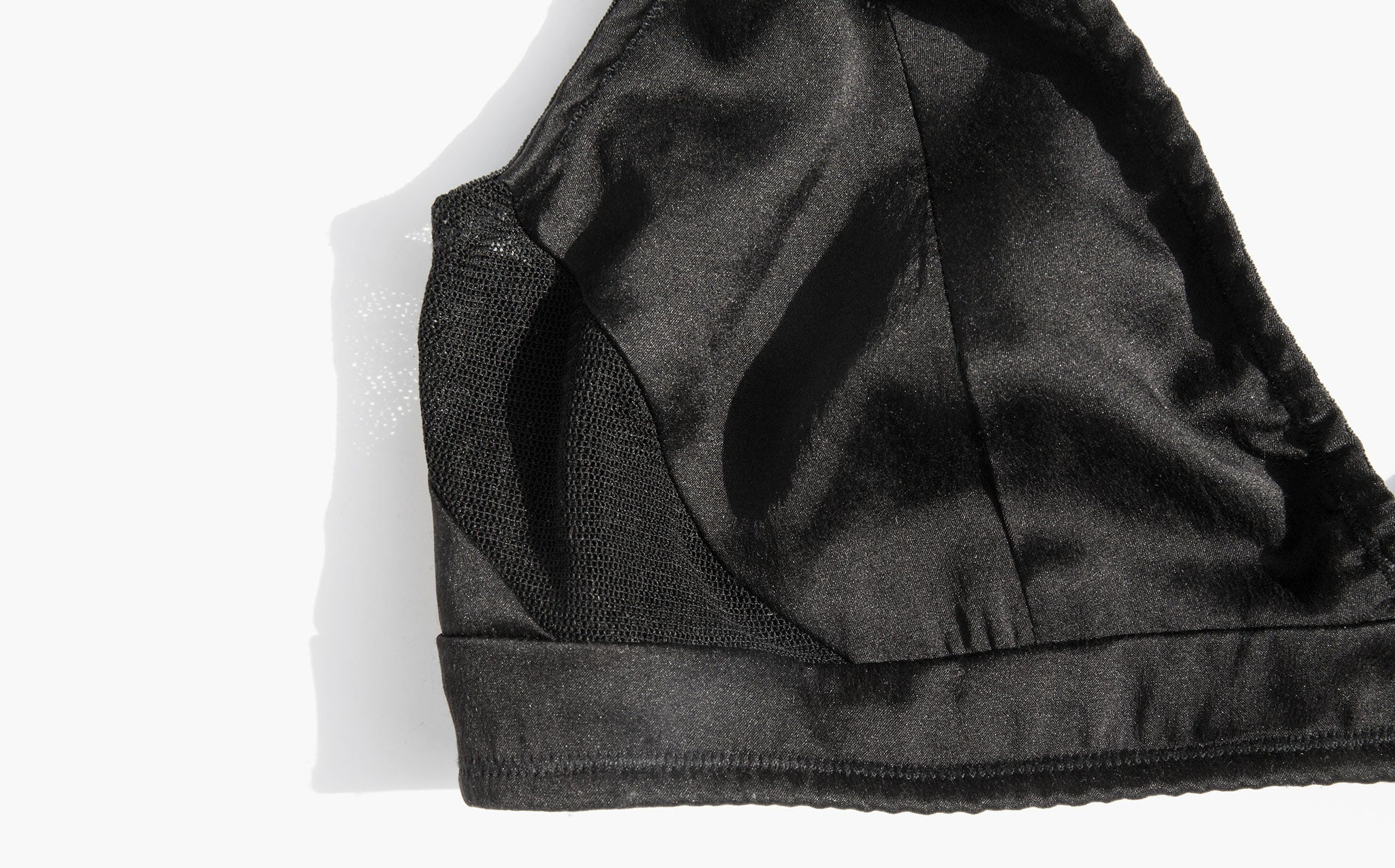 Kent Zap Black Silk and Mesh Bra