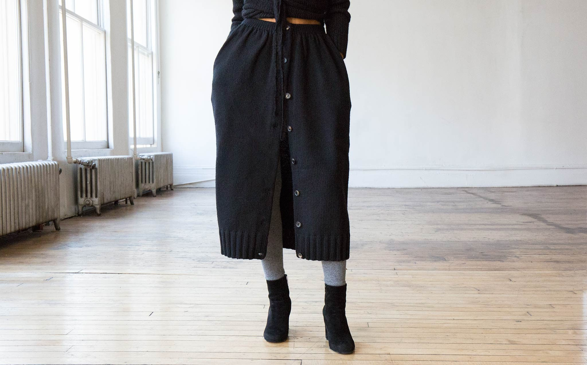 A Détacher Celina Skirt kindred black