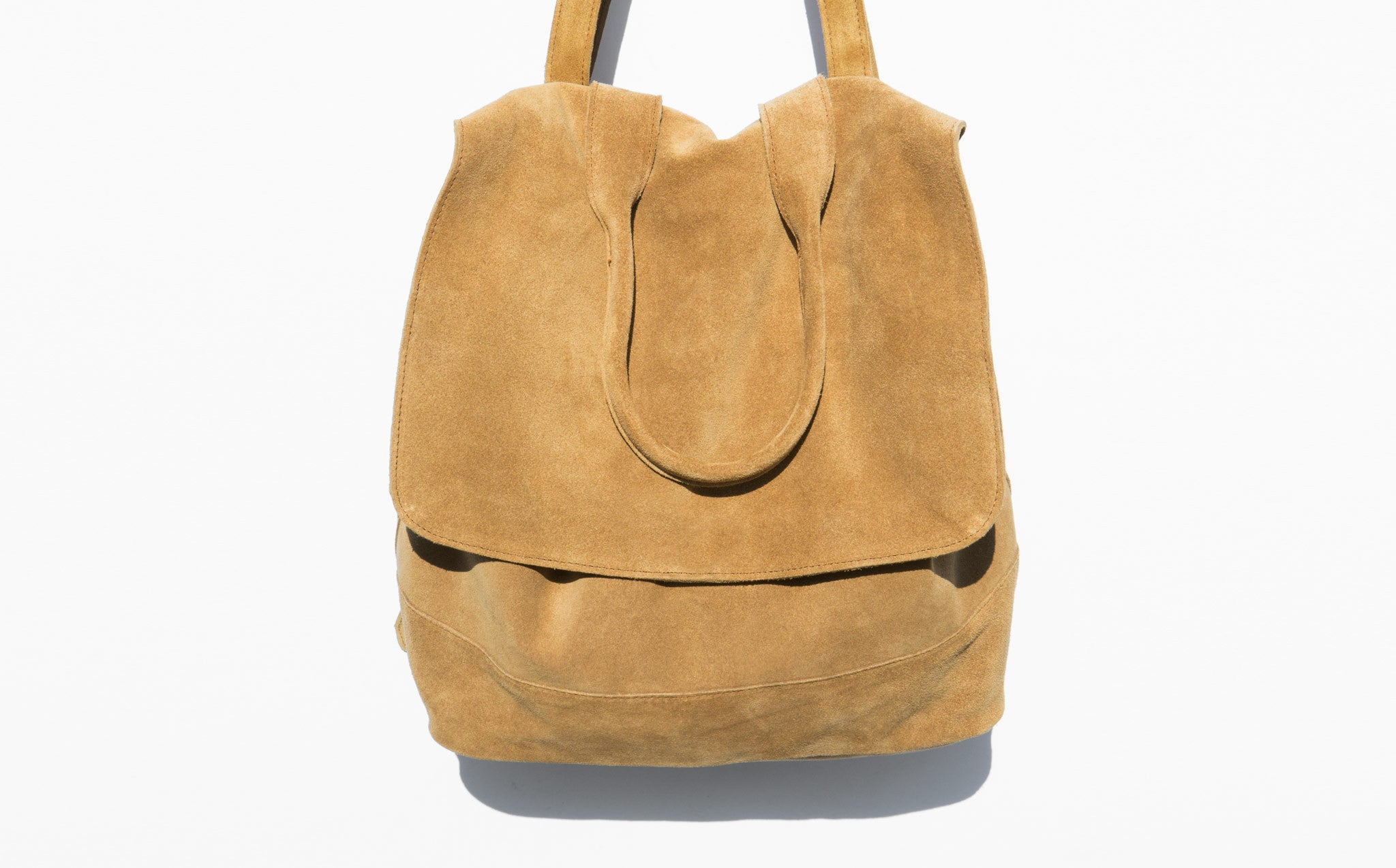 Clyde Room Backpack Golden Brown Suede