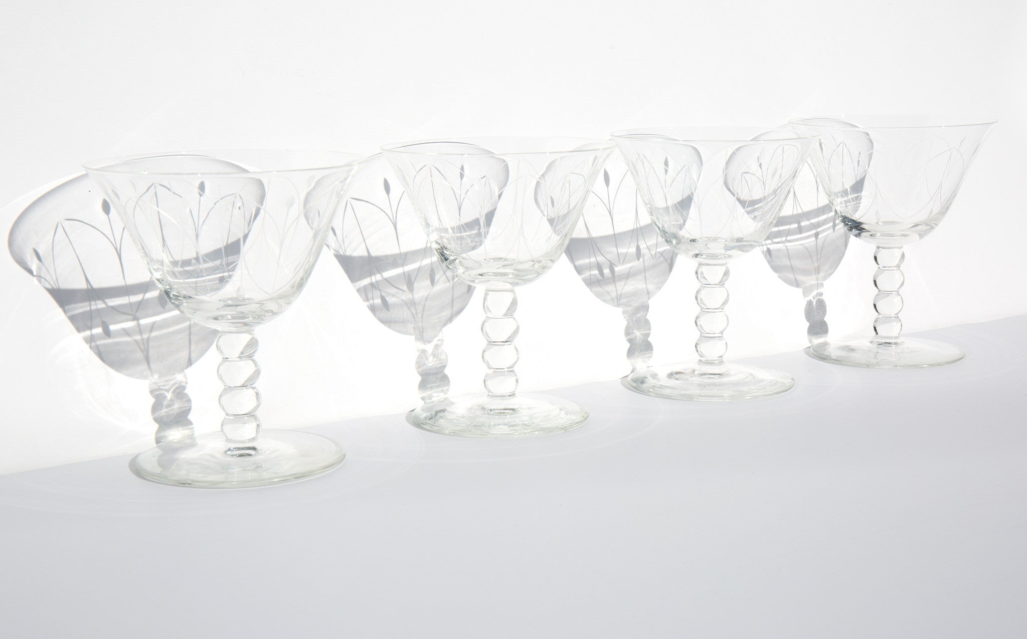 Etched Cocktail Glasses