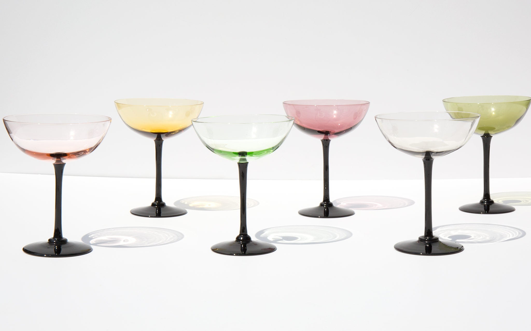 Pastel Champagne Coupes