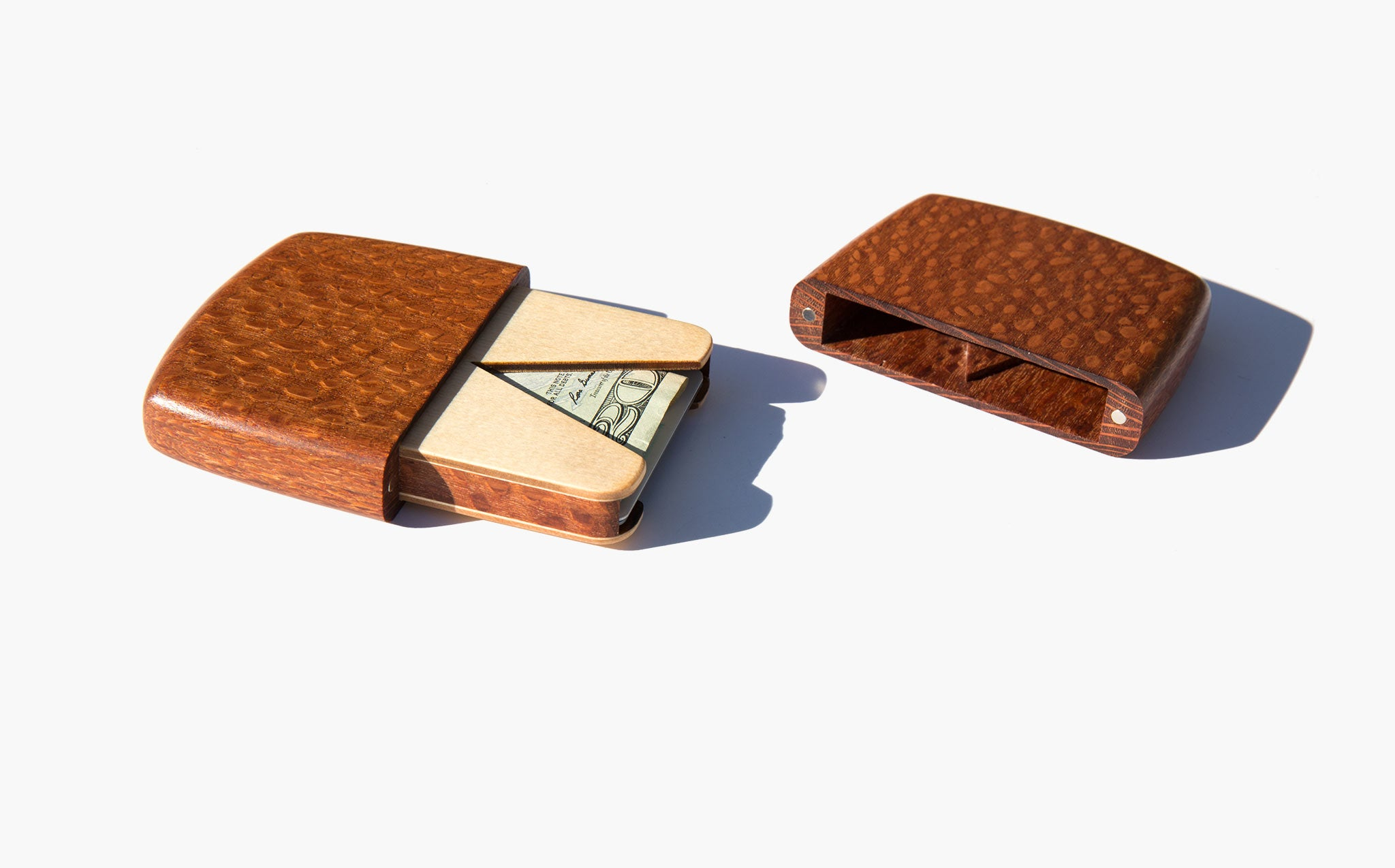 Leopardwood Card Case