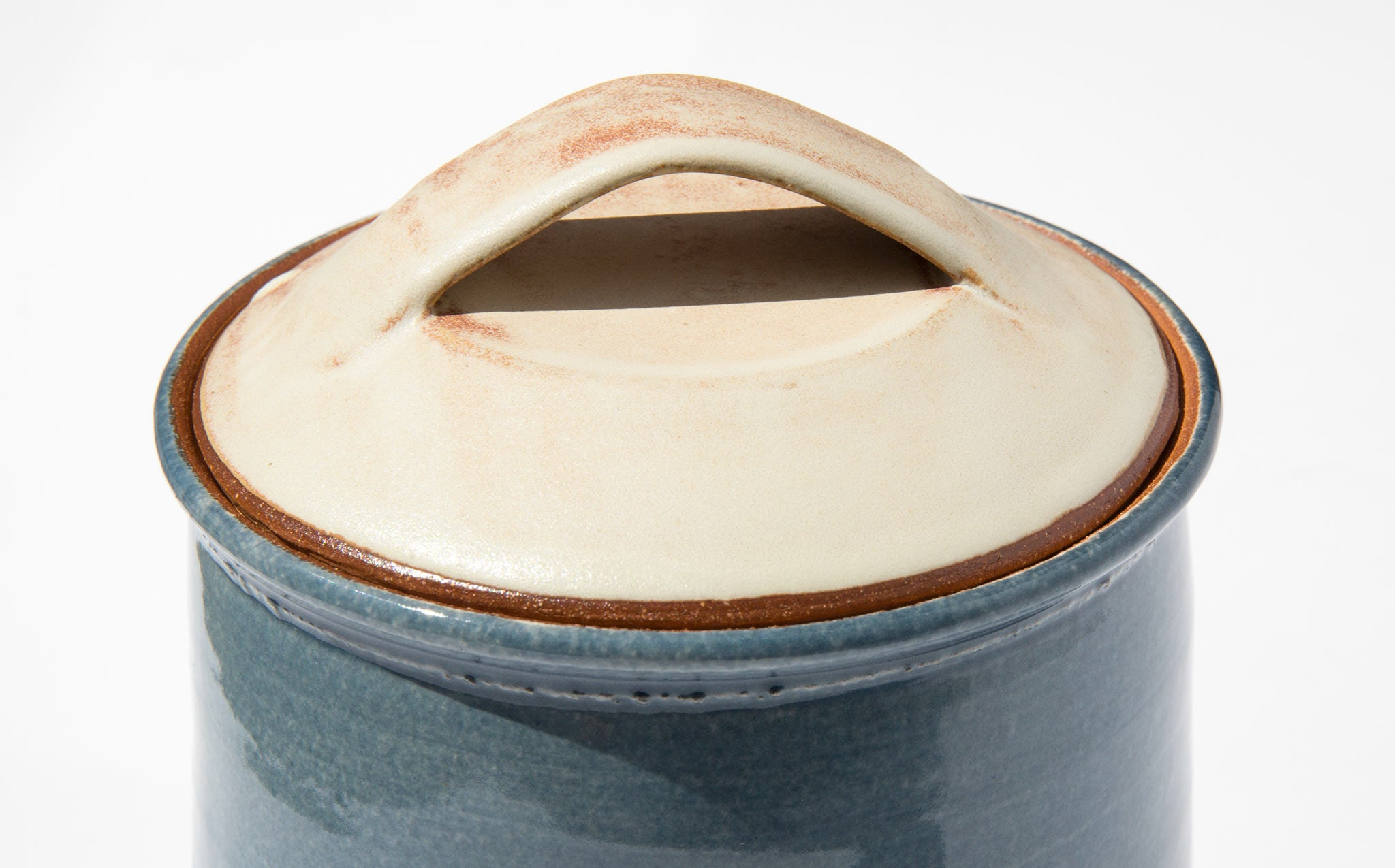 New York Stoneware French Blue Canister