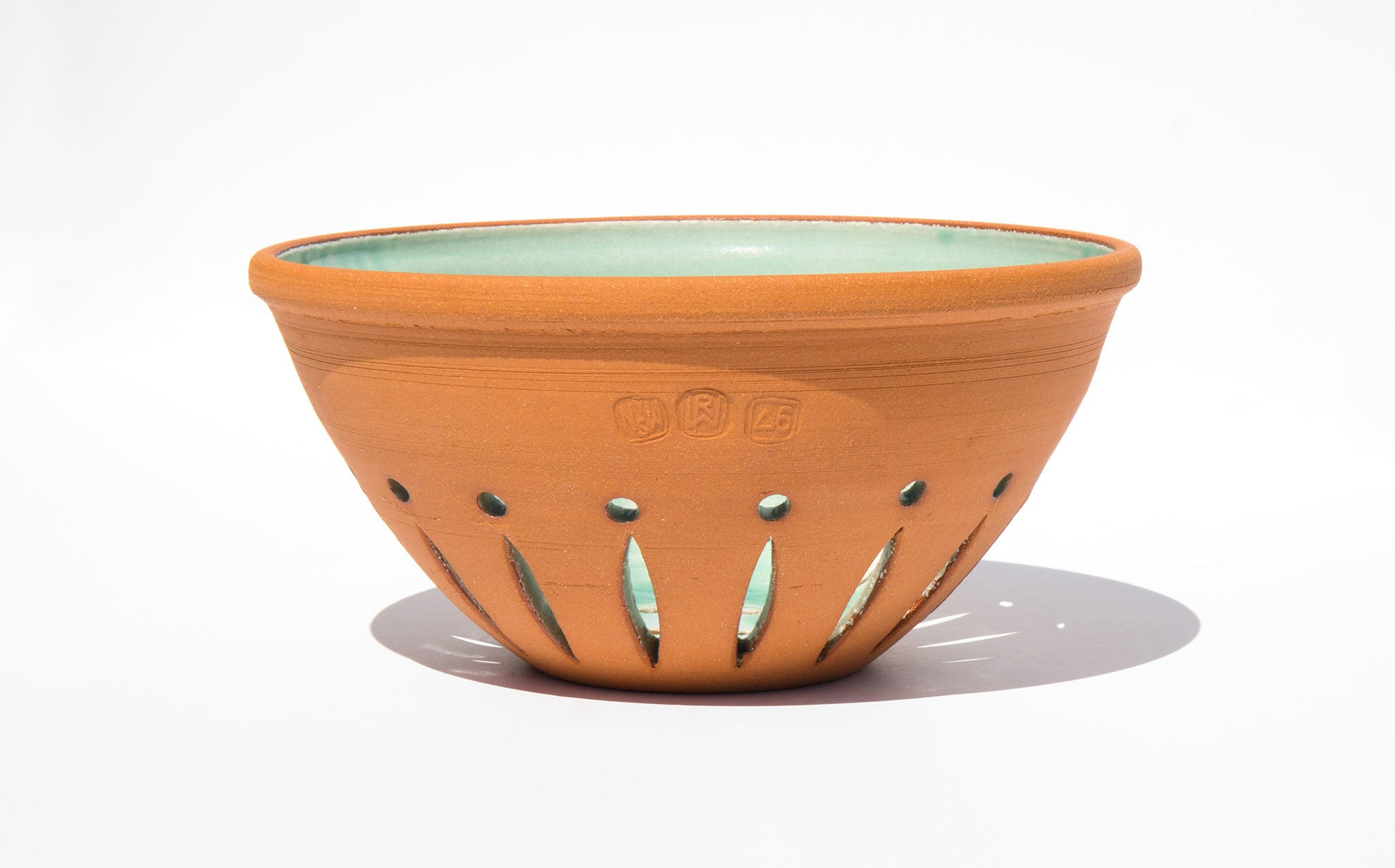New York Stoneware Turquoise Berry Bowl
