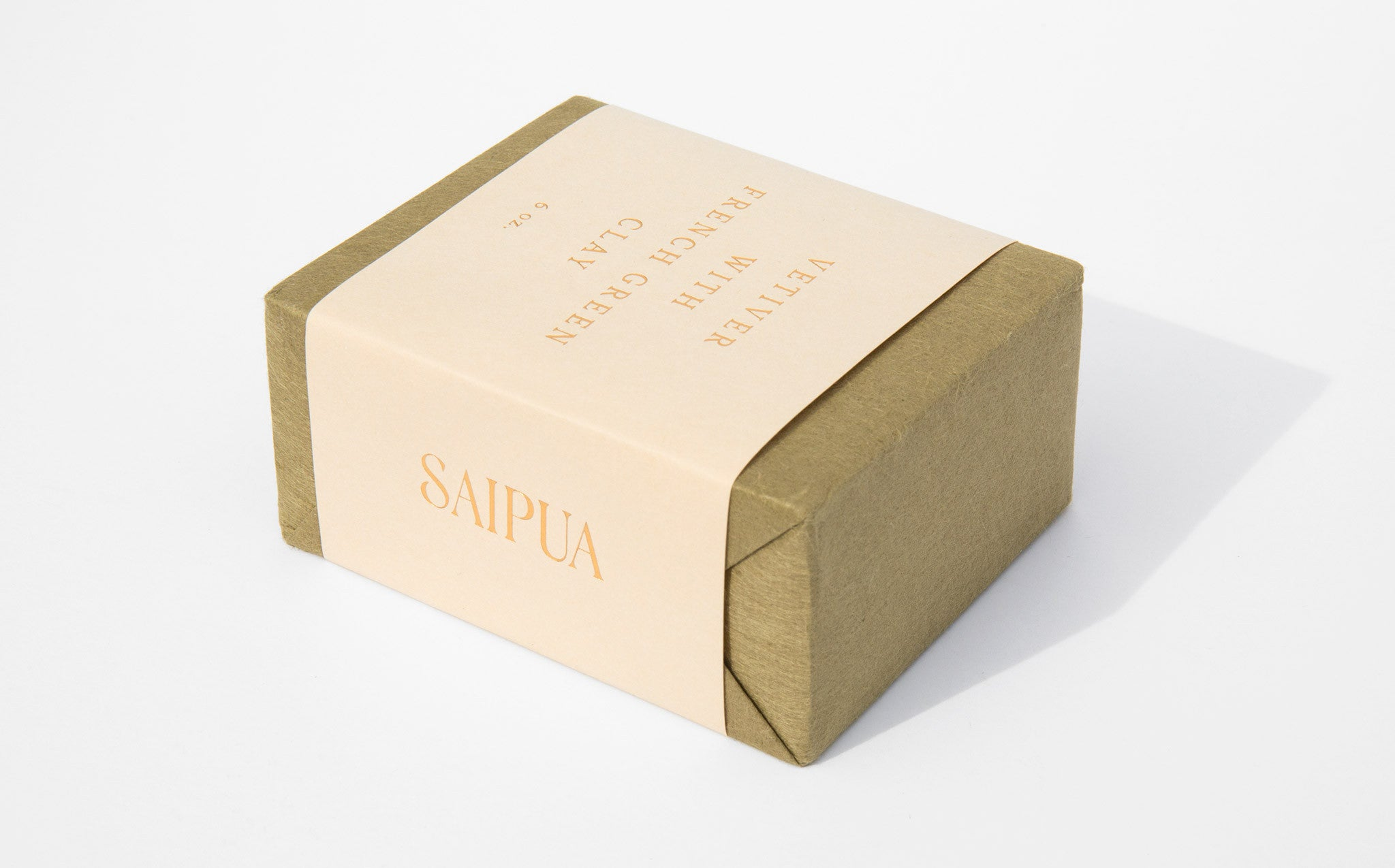 Saipua Vetiver With French Green Clay Soap kindred black