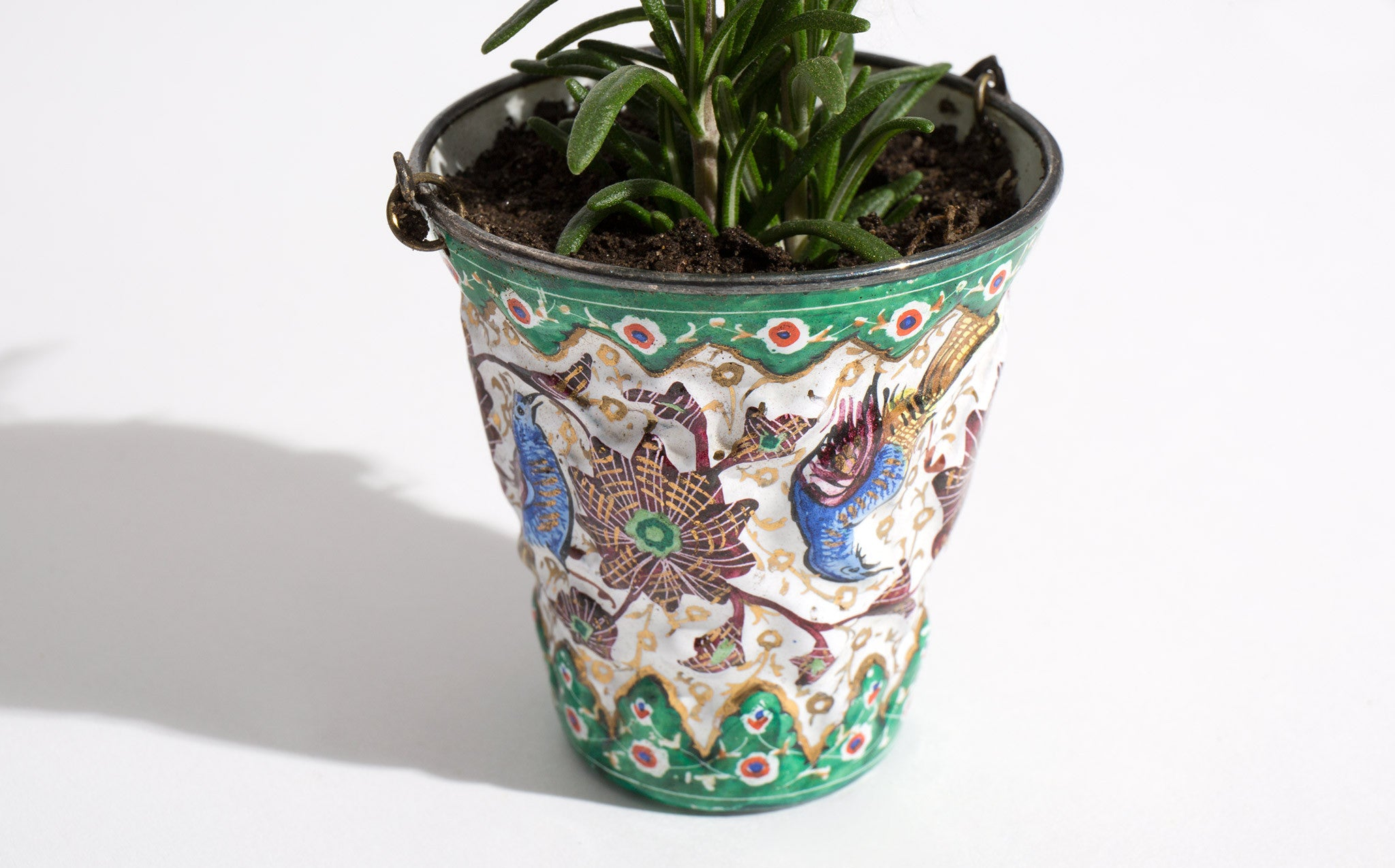 Tiny Persian Lacquered Planter