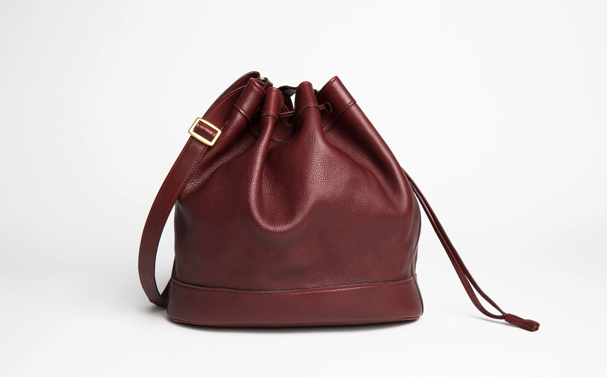 Hermés Vintage Oxblood Market Bucket Bag