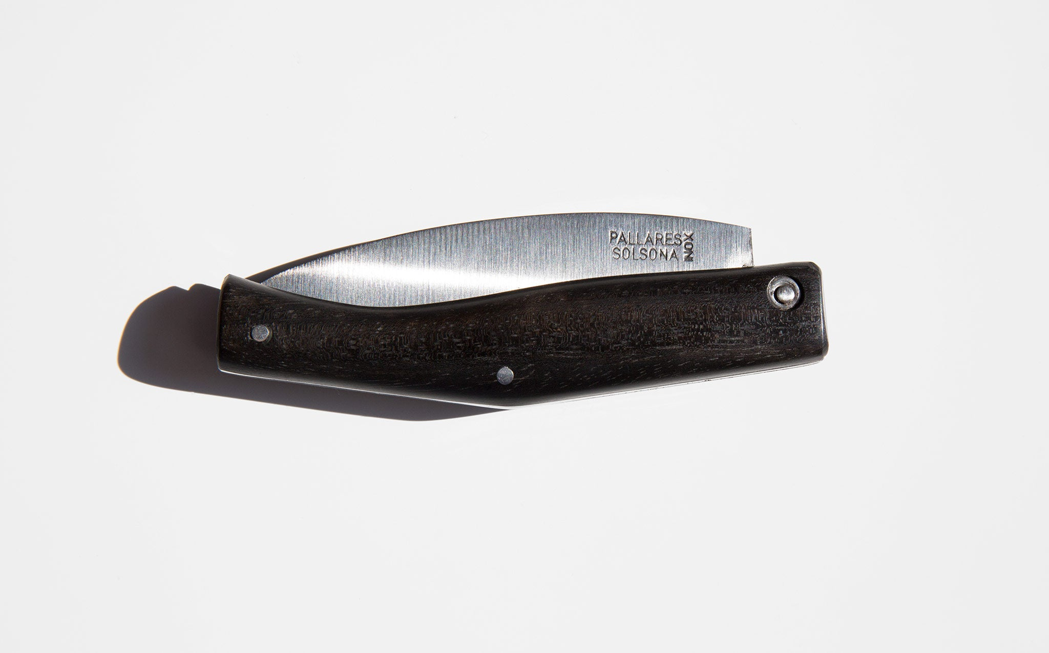 Pallarés Solsona Ebony Wood Pocket Knife