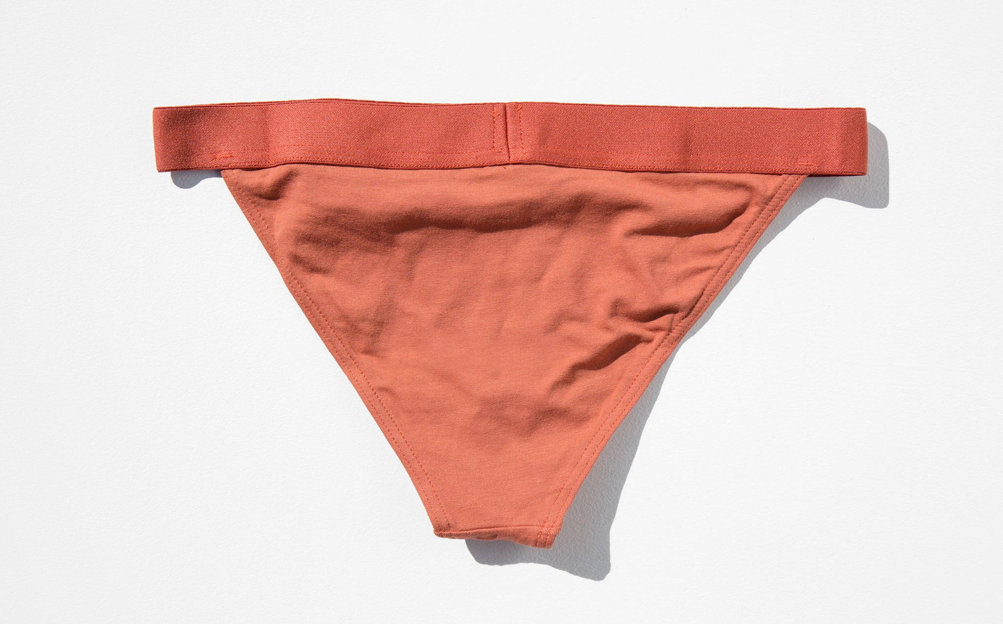 The Nude Label Rust Triangle Brief