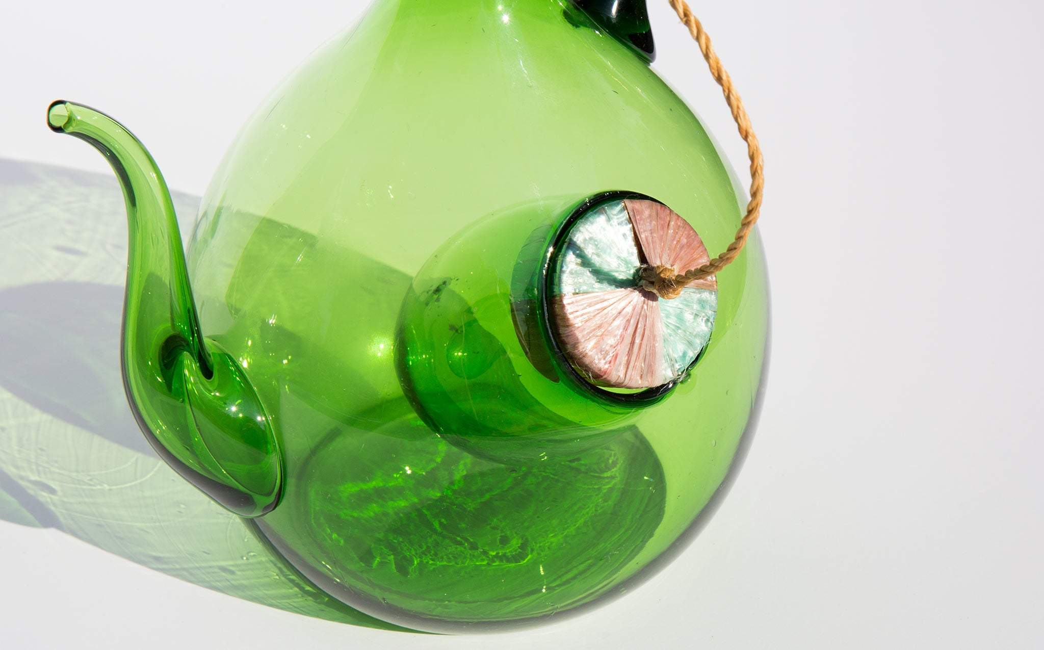 Translucent Emerald Wine Decanter