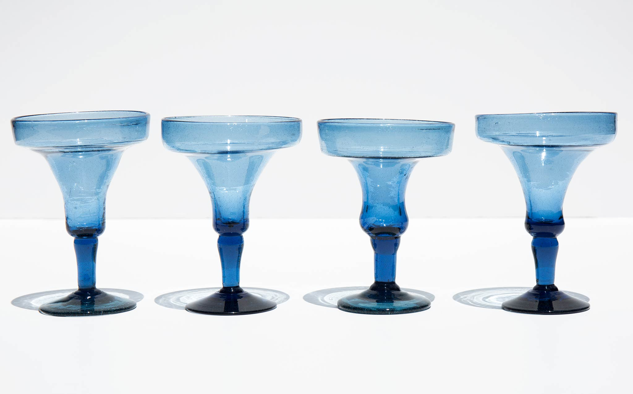 Pacific Blue Margarita Glasses