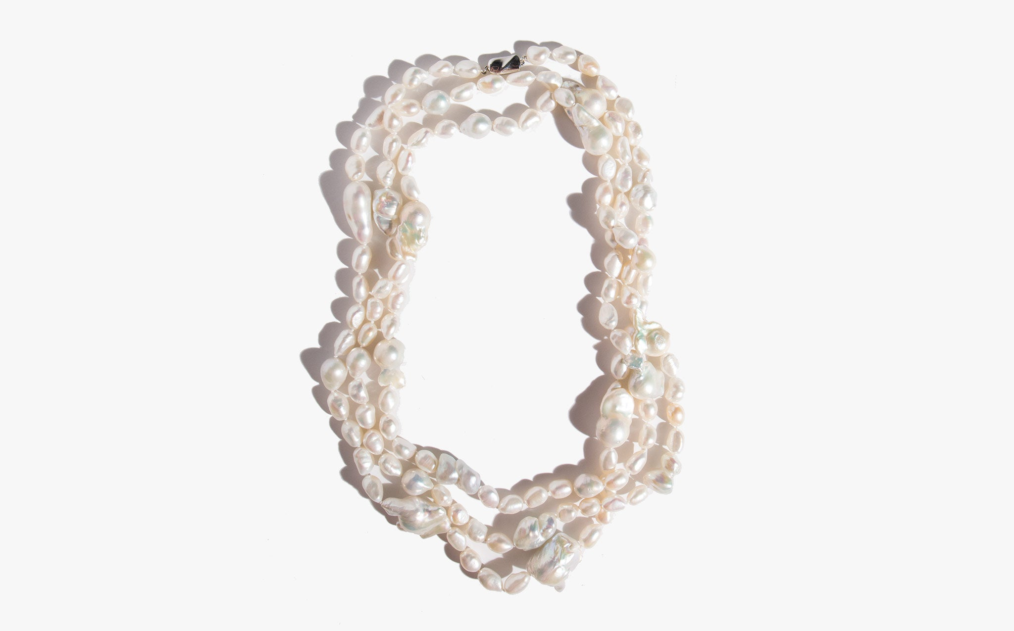 Extra Long Natural Freshwater Pearls