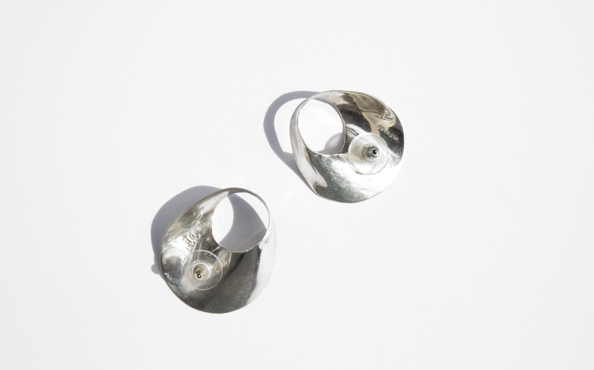 Abstract Sterling Earrings