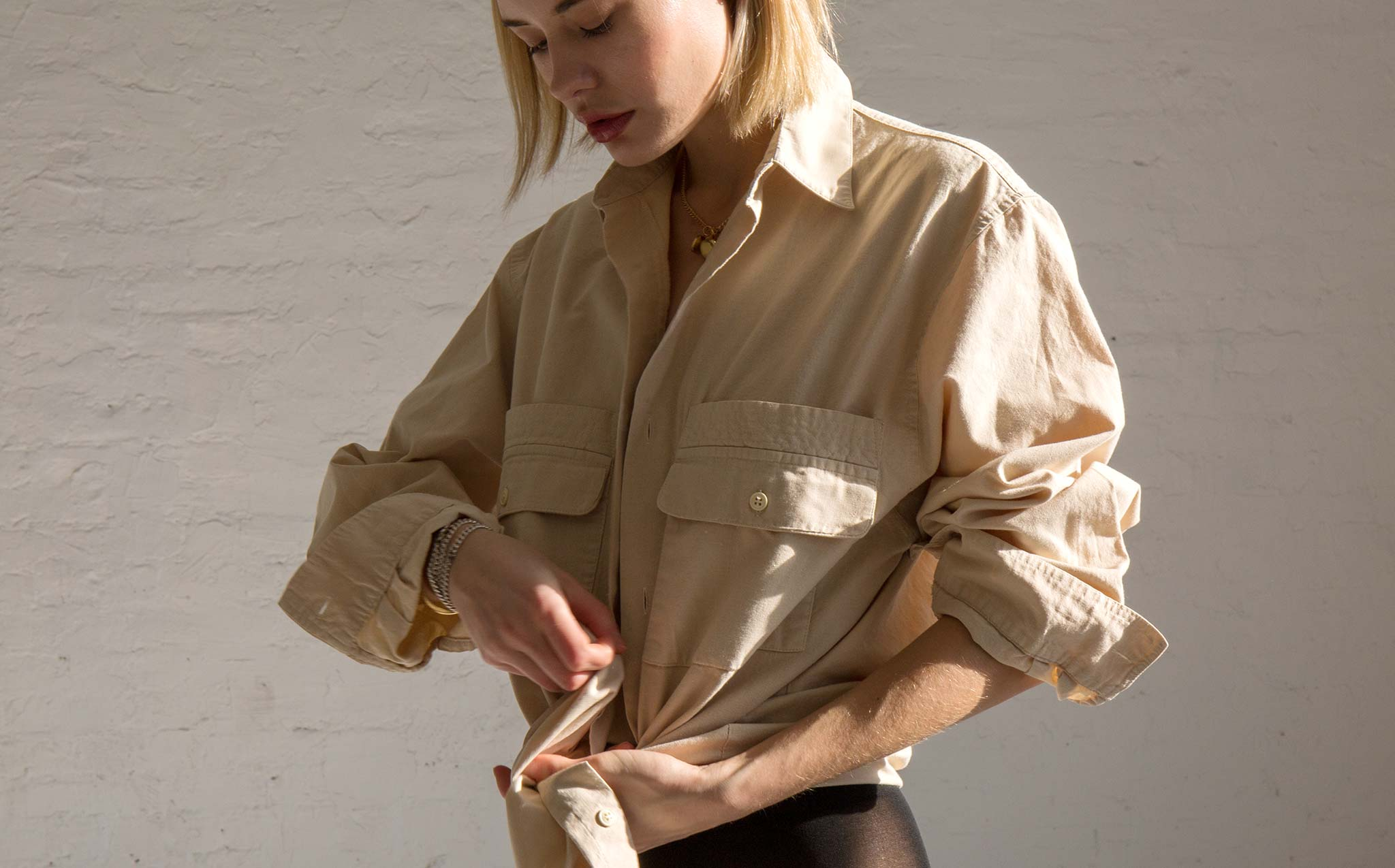Vintage Oversized Button Down Day Blouse