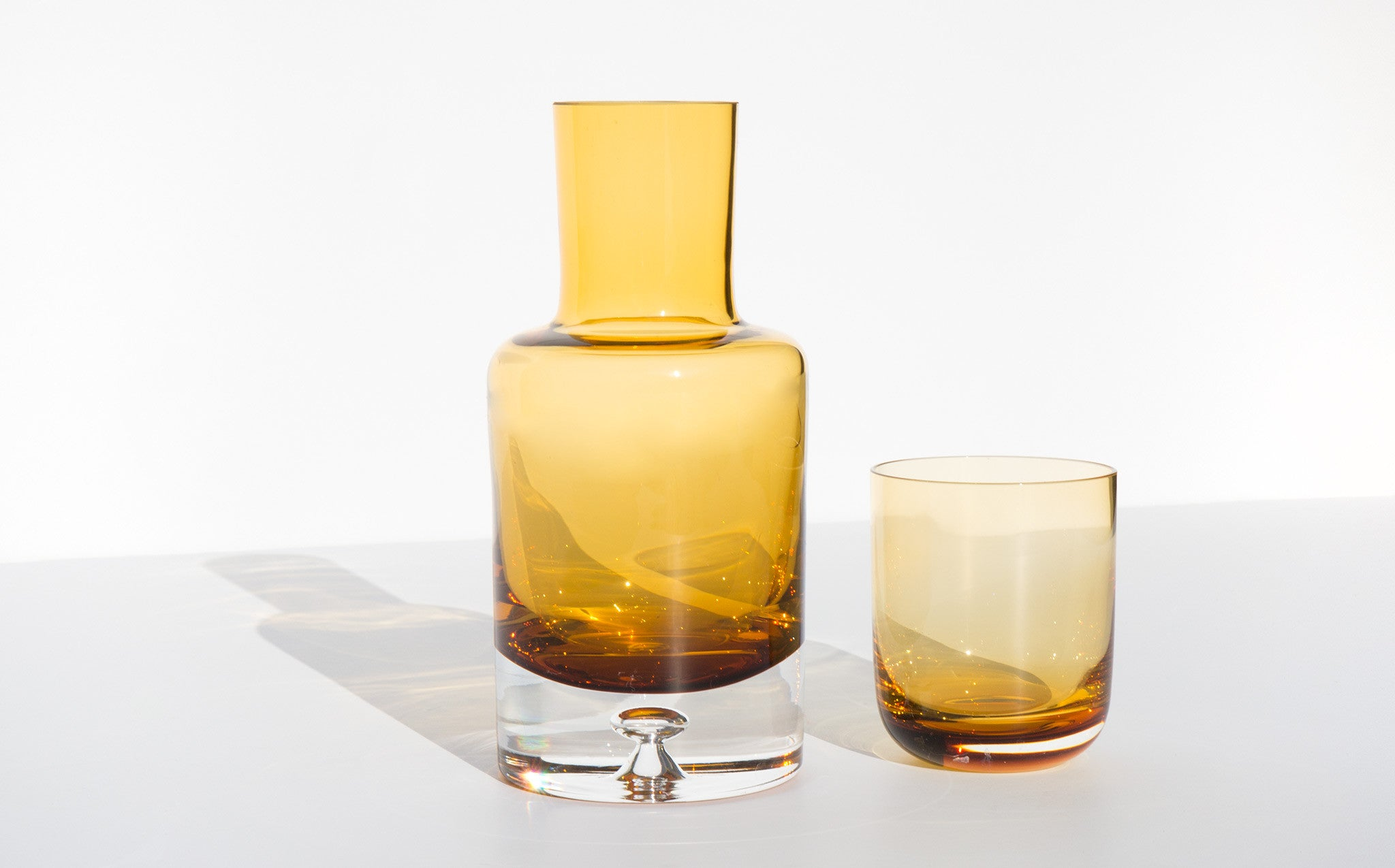 Amber Crystal Bureau Decanter